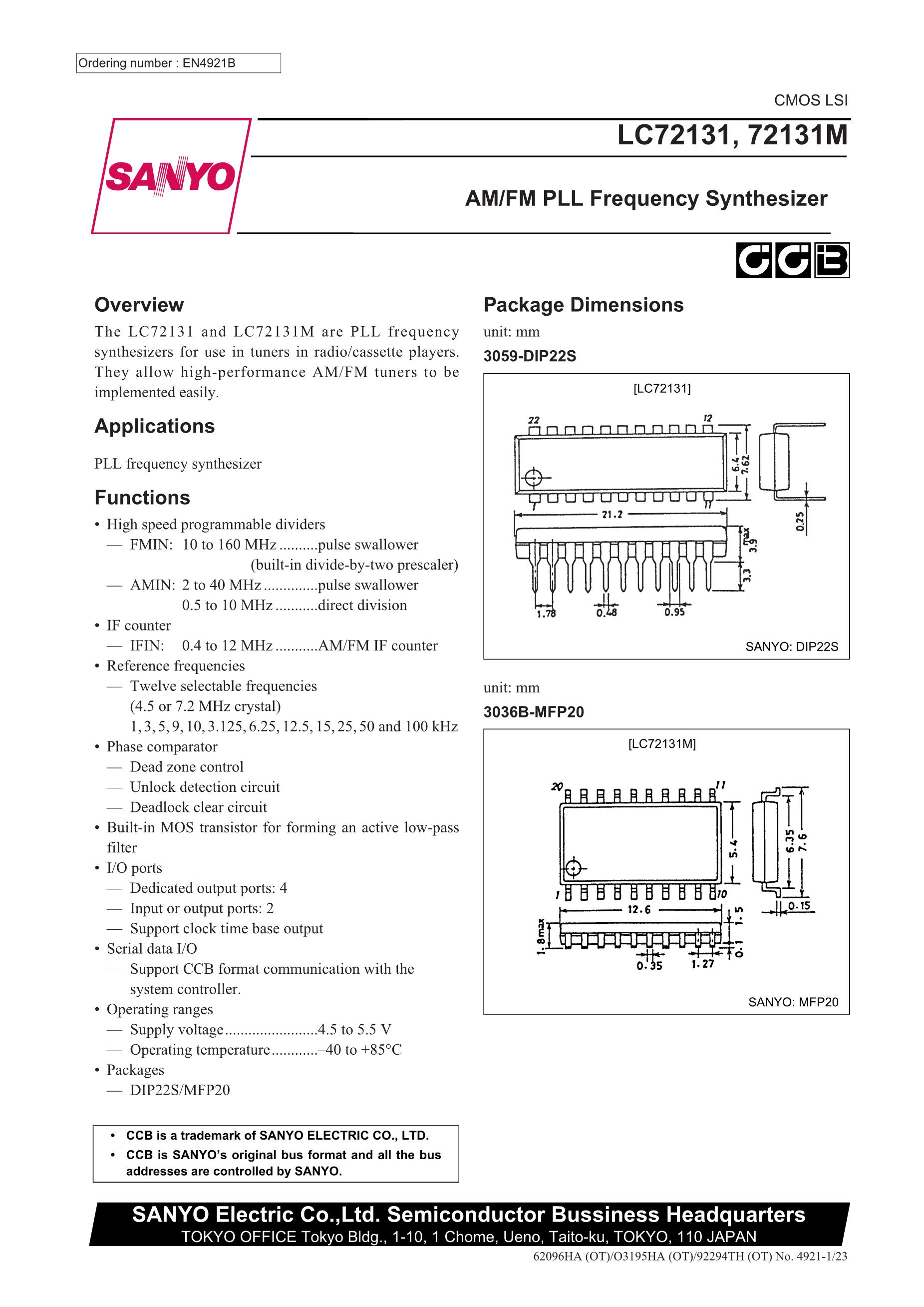 LC72321N's pdf picture 1