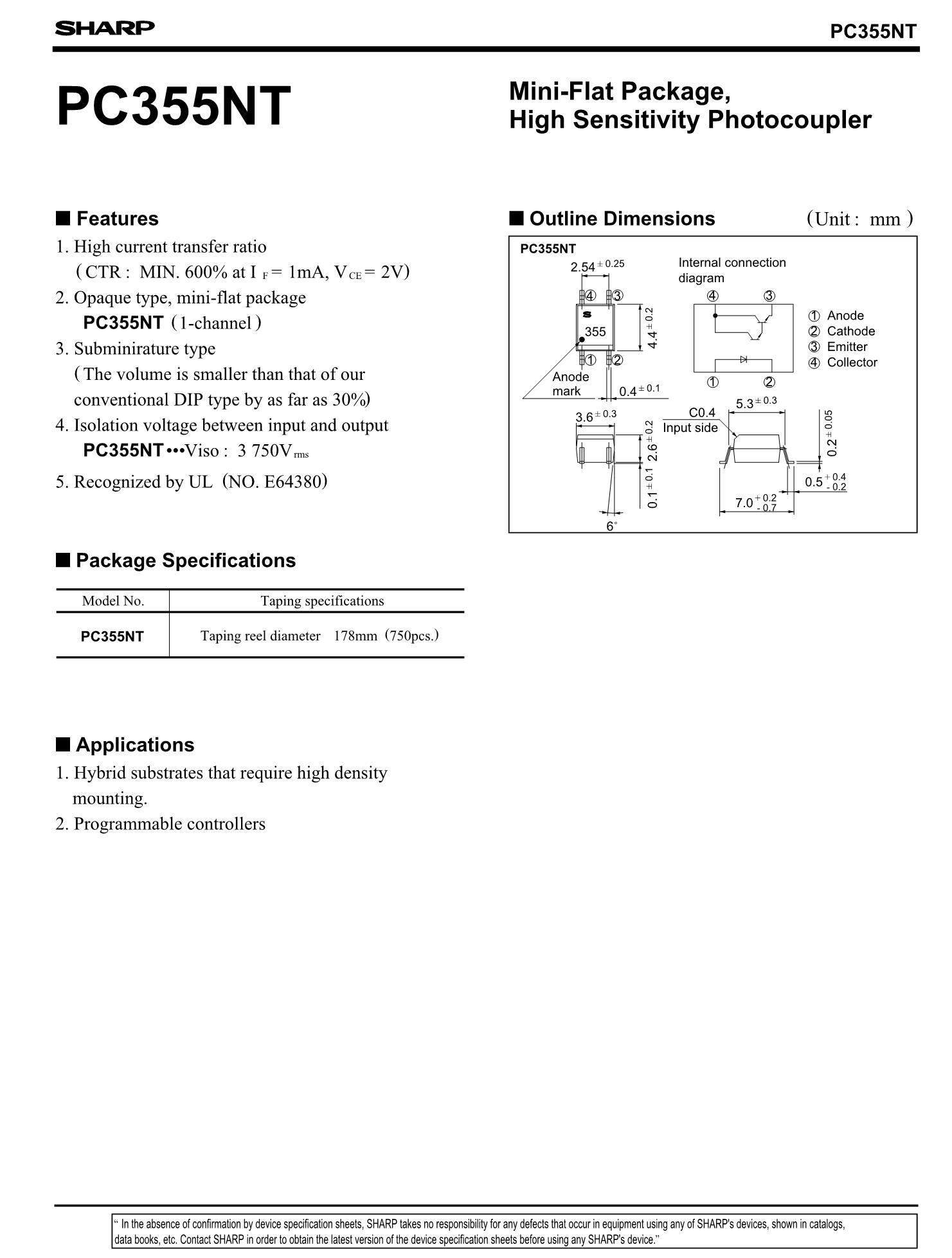PC354MJ0000F's pdf picture 1