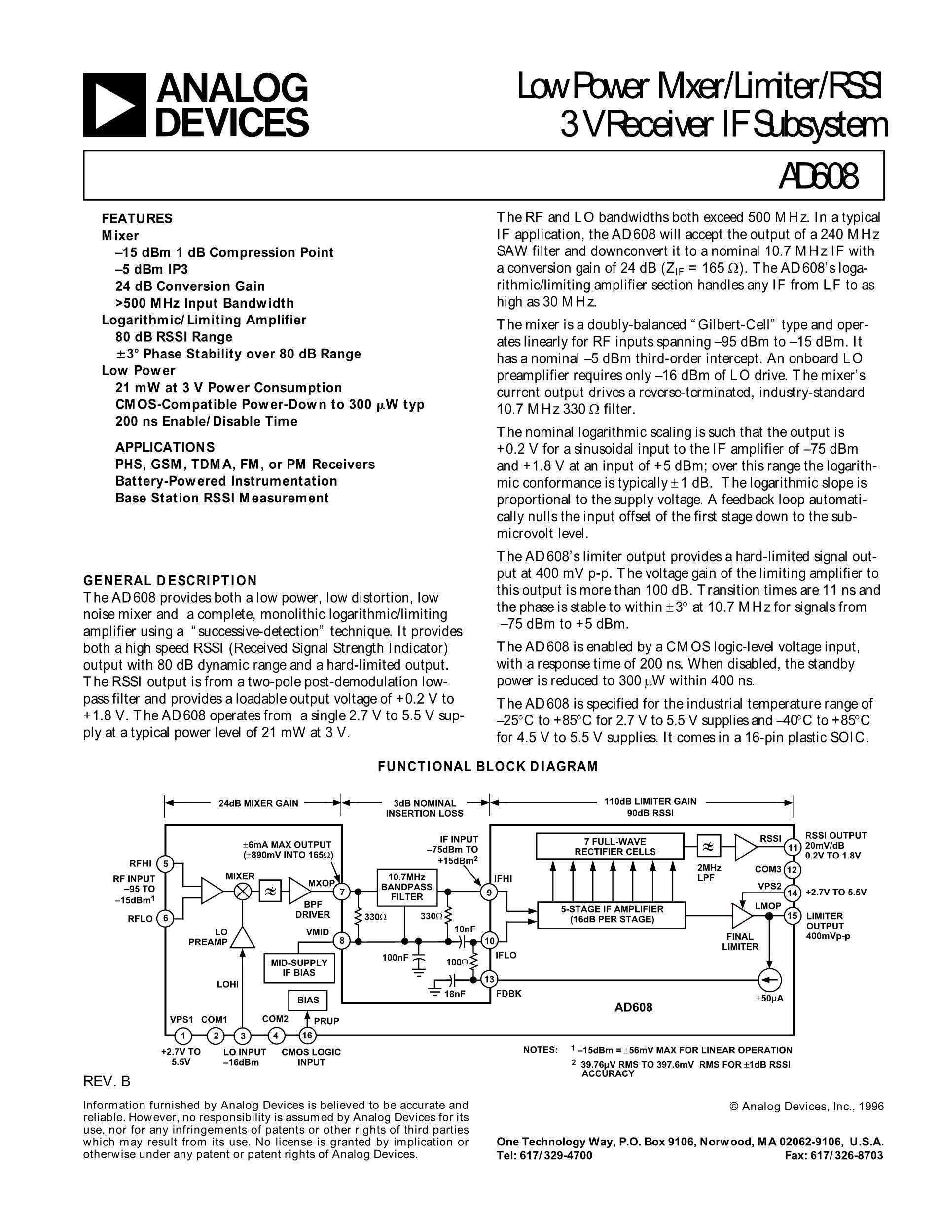 AD603ARX-AWP's pdf picture 1