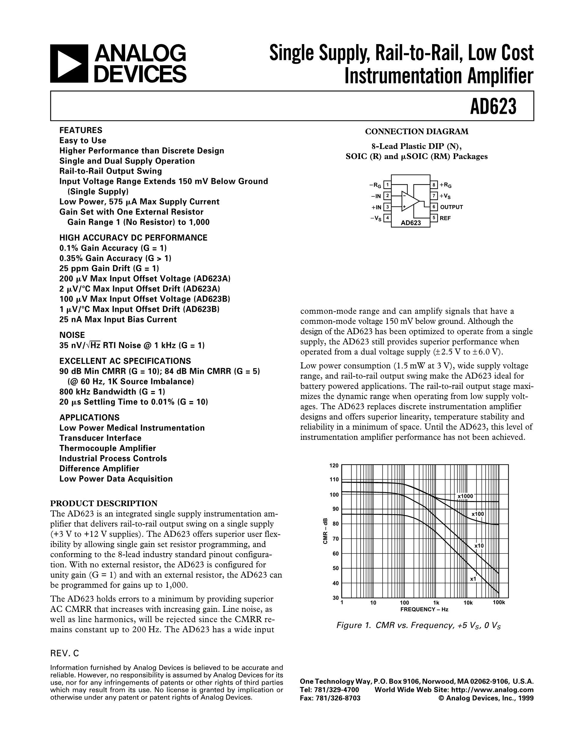 AD629ARZ's pdf picture 1