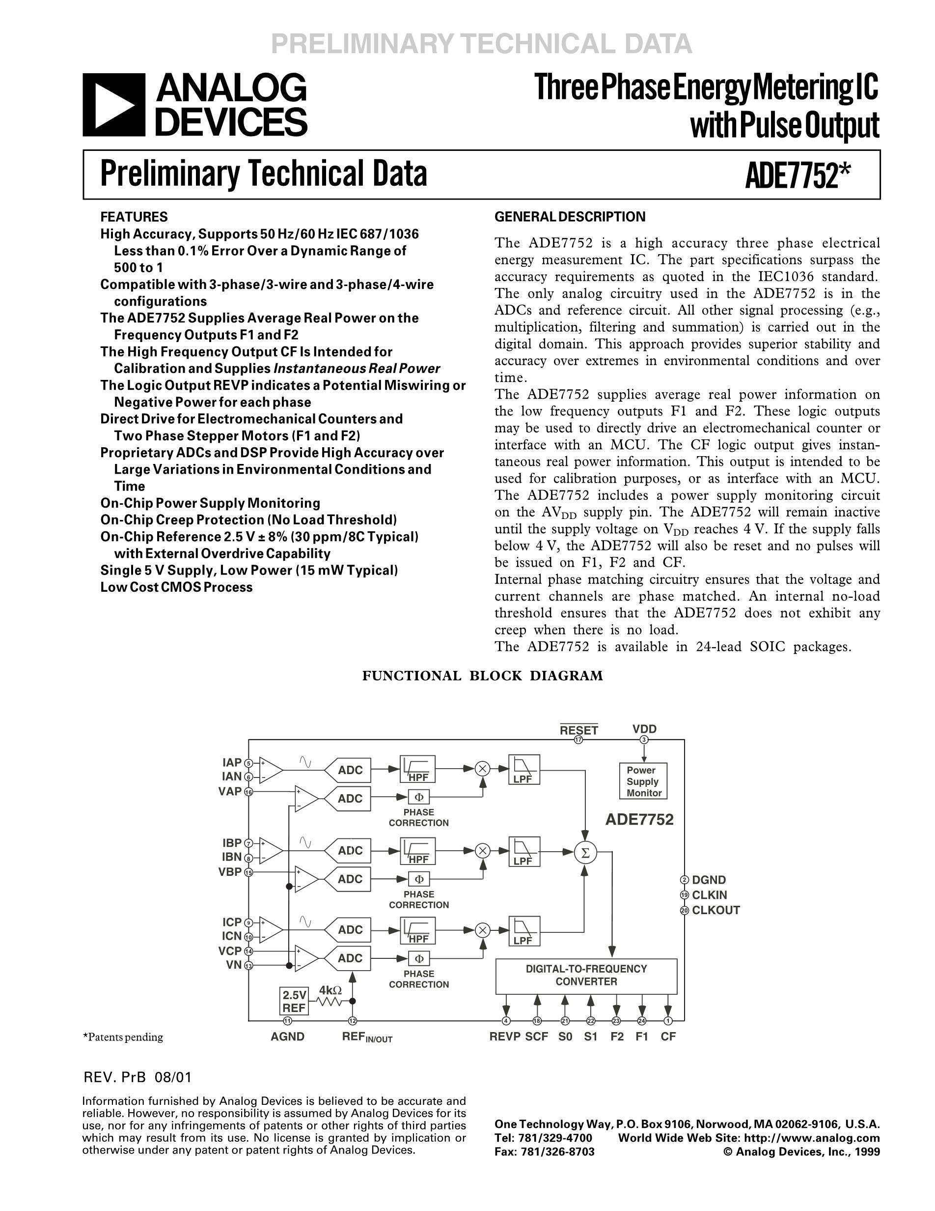 ADE7858ACPZ-RL's pdf picture 1