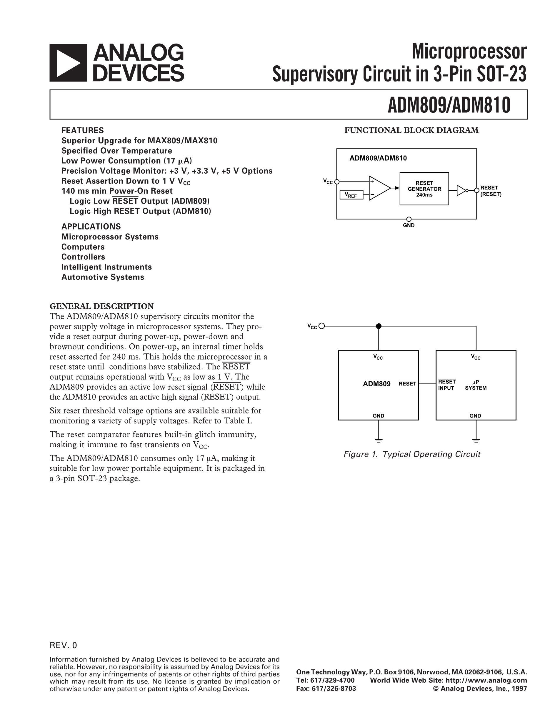 ADM809LART-REEL7's pdf picture 1