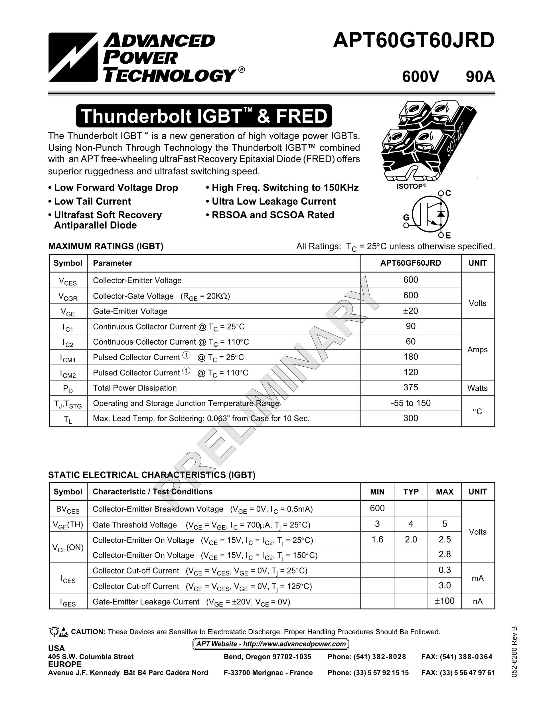 APT60GT60JRD's pdf picture 1