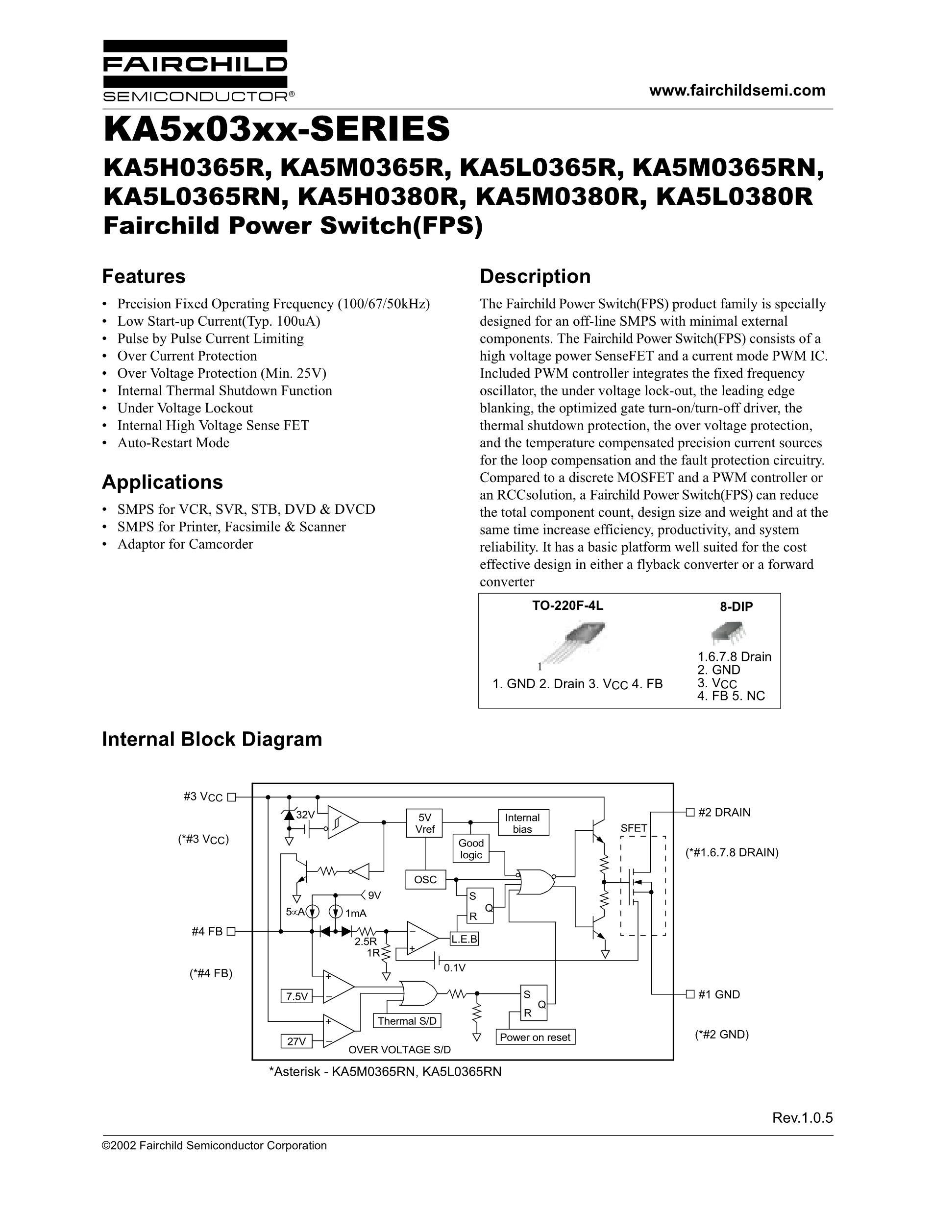 KA5M0365RN,5M0365R's pdf picture 1