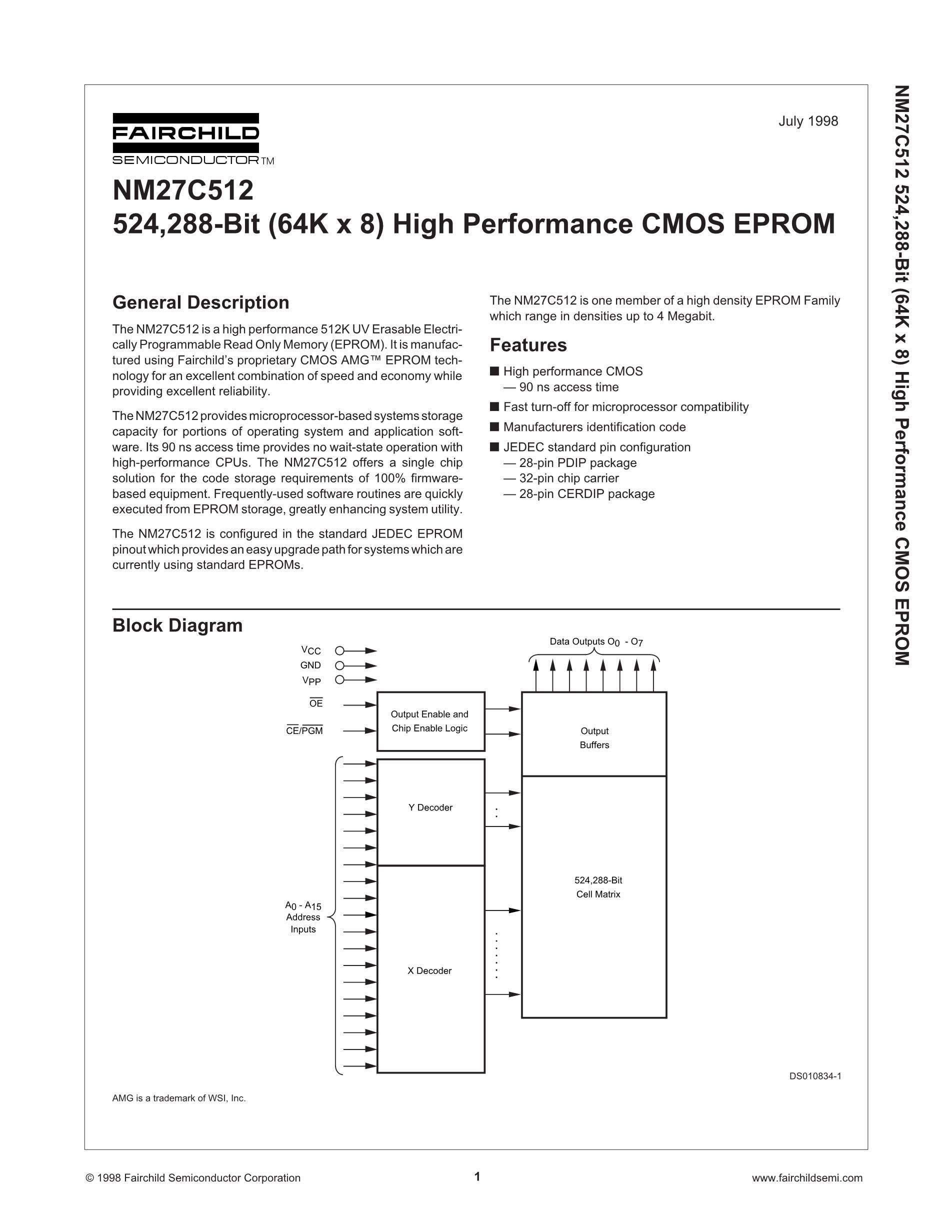 NM27C040Q120's pdf picture 1