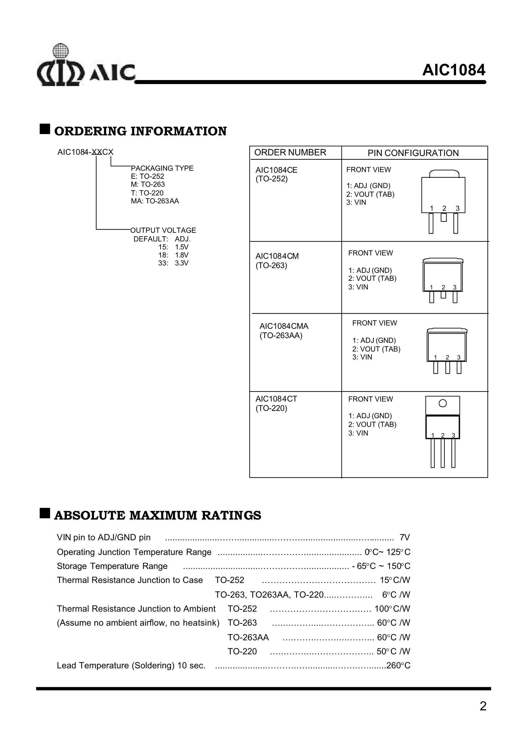 AIC1638-50CX's pdf picture 2