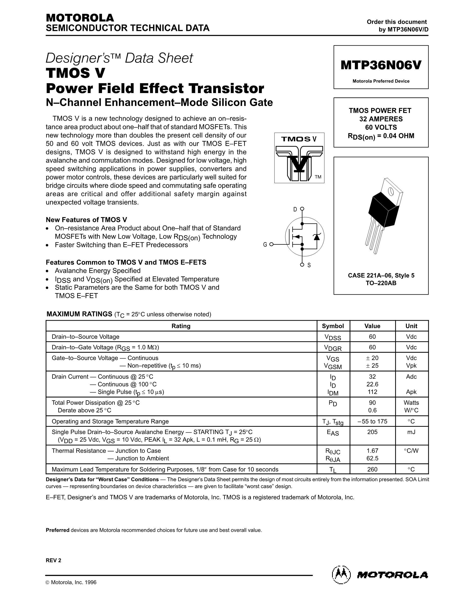 MTP36N06V's pdf picture 1