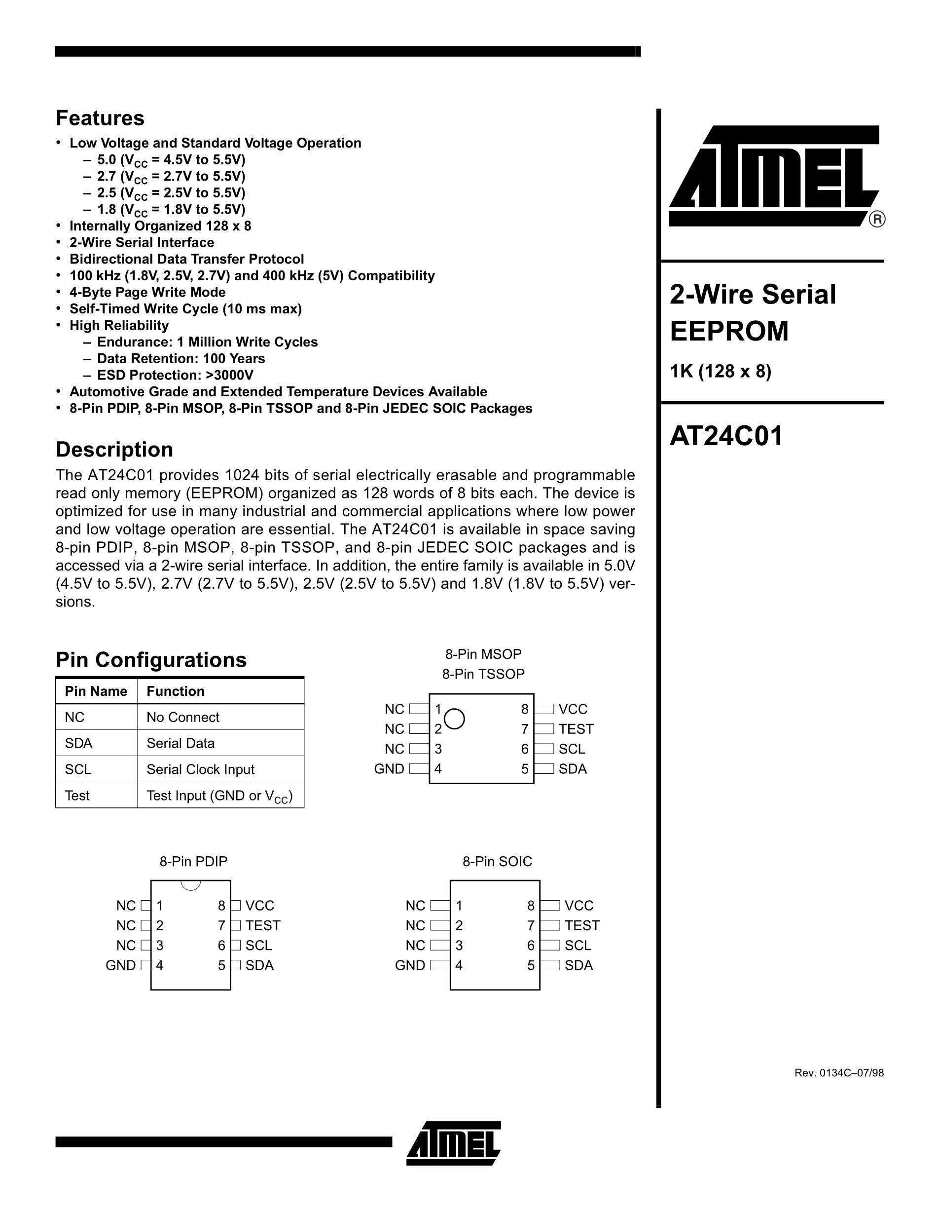 AT24C02N-SC-1.8's pdf picture 1