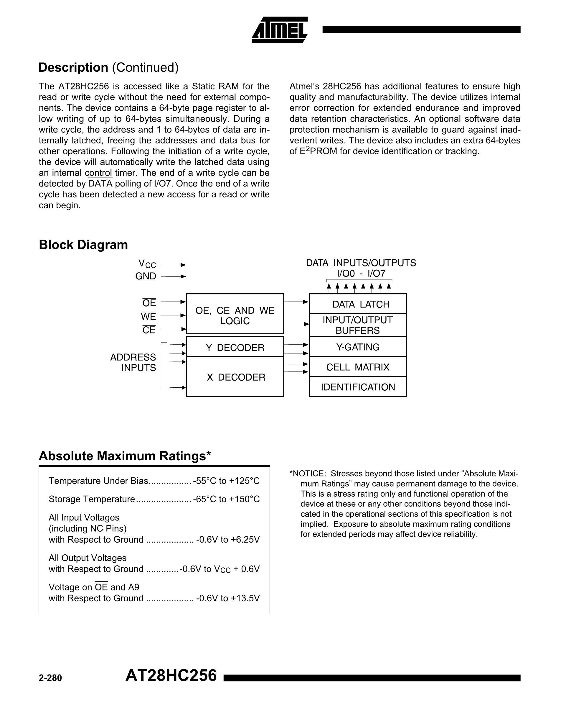 AT28HC256E-12SI's pdf picture 2