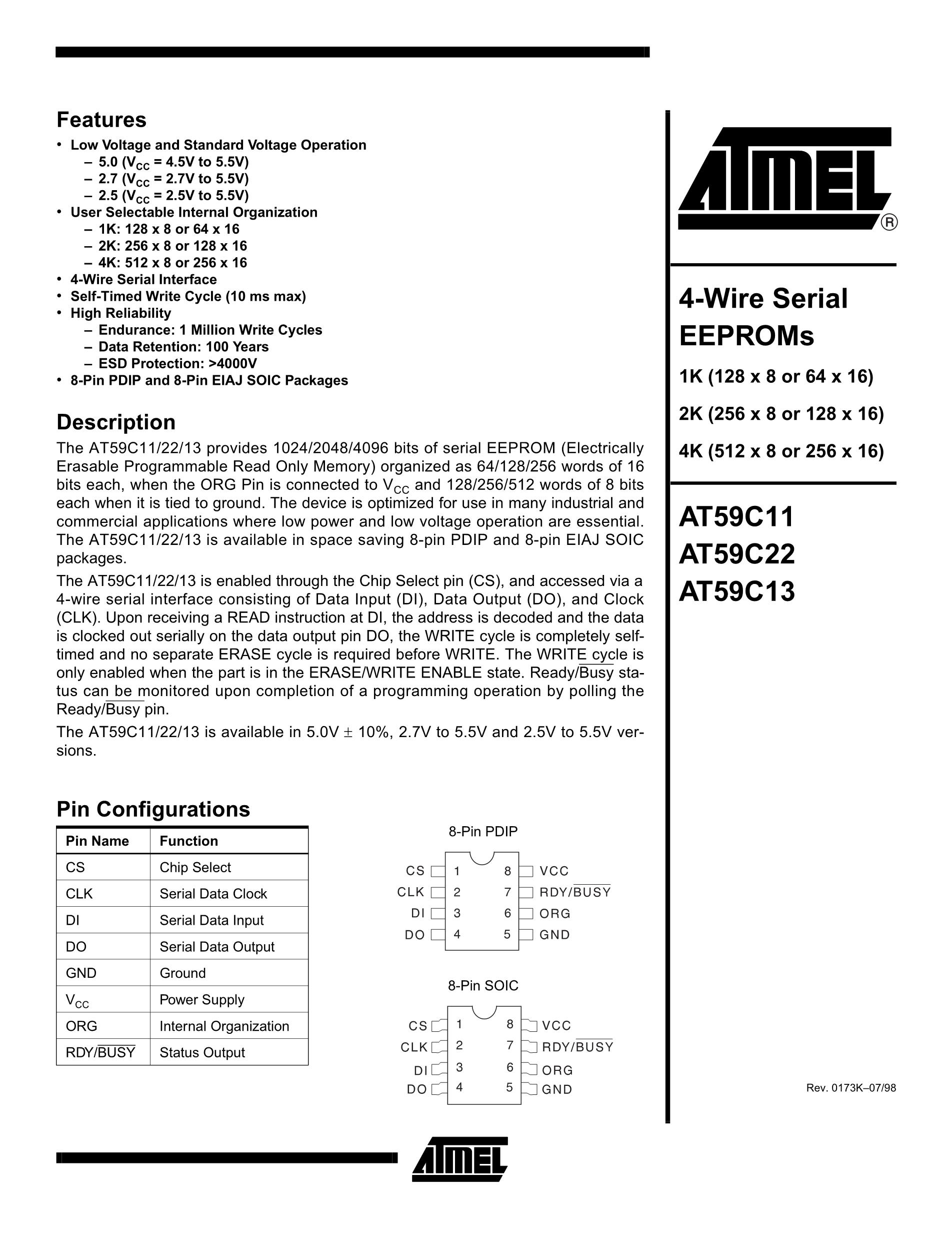 AT59C11.PC's pdf picture 1