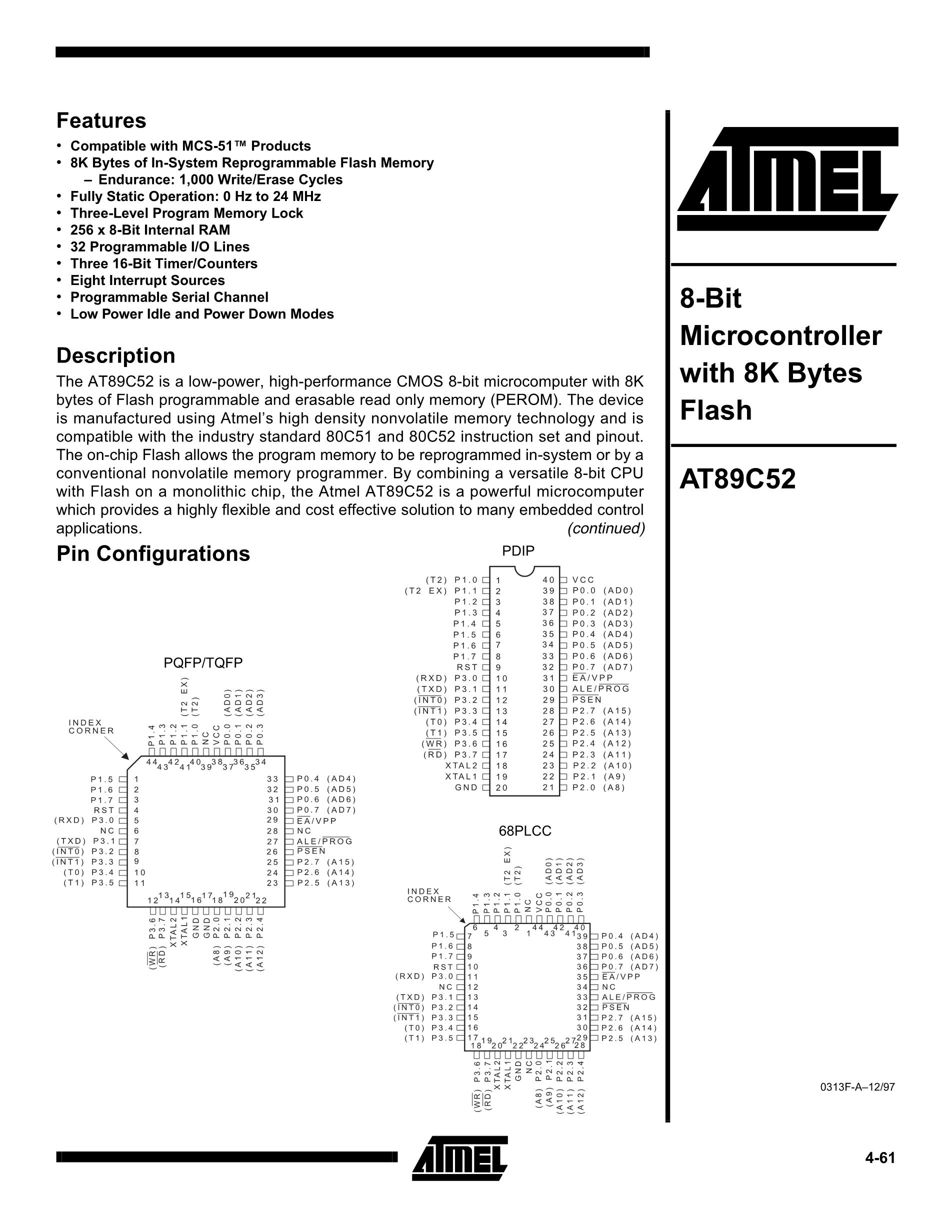 AT89C52-24PI's pdf picture 1