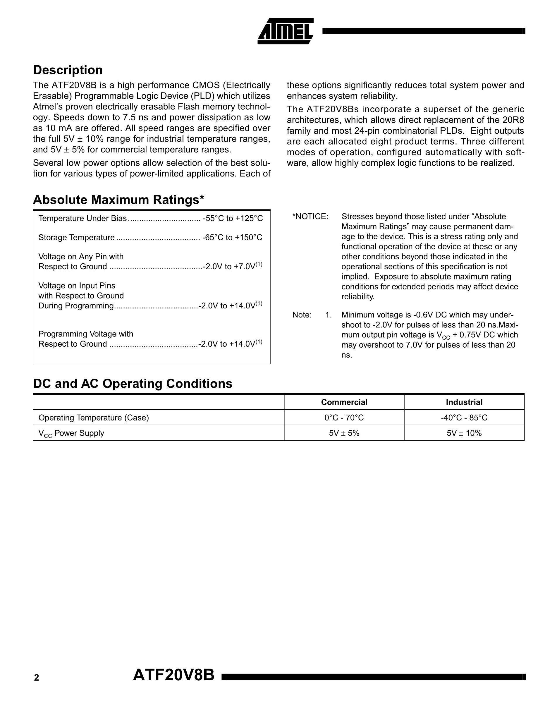ATF22V10B-15SC's pdf picture 2