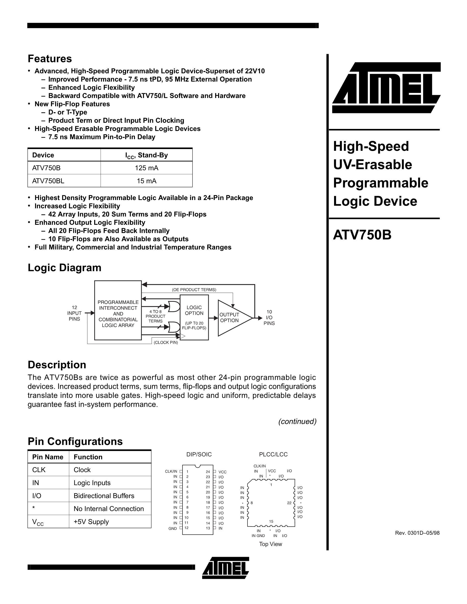 ATV750BL-15LM/883's pdf picture 1