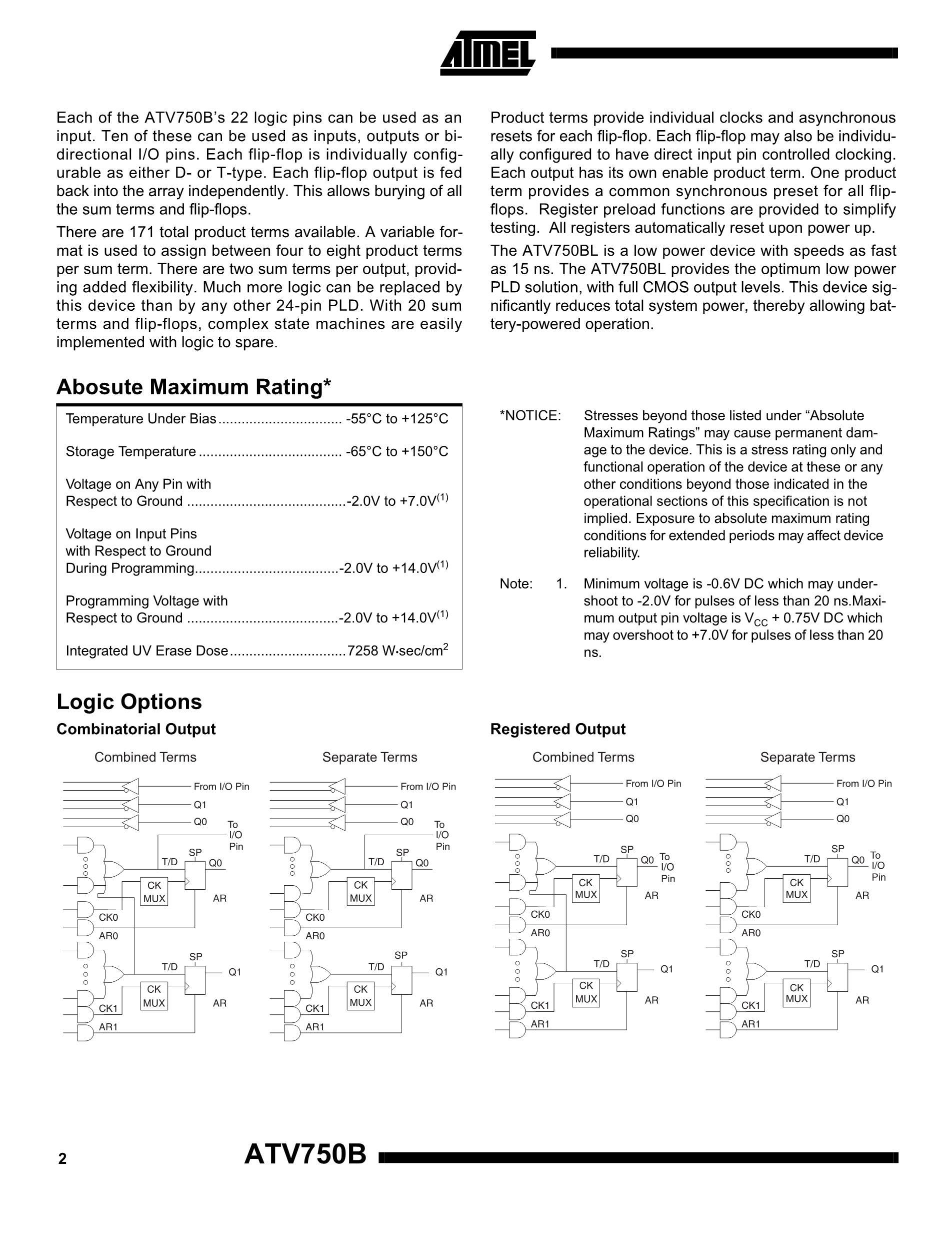 ATV750BL-15LM/883's pdf picture 2