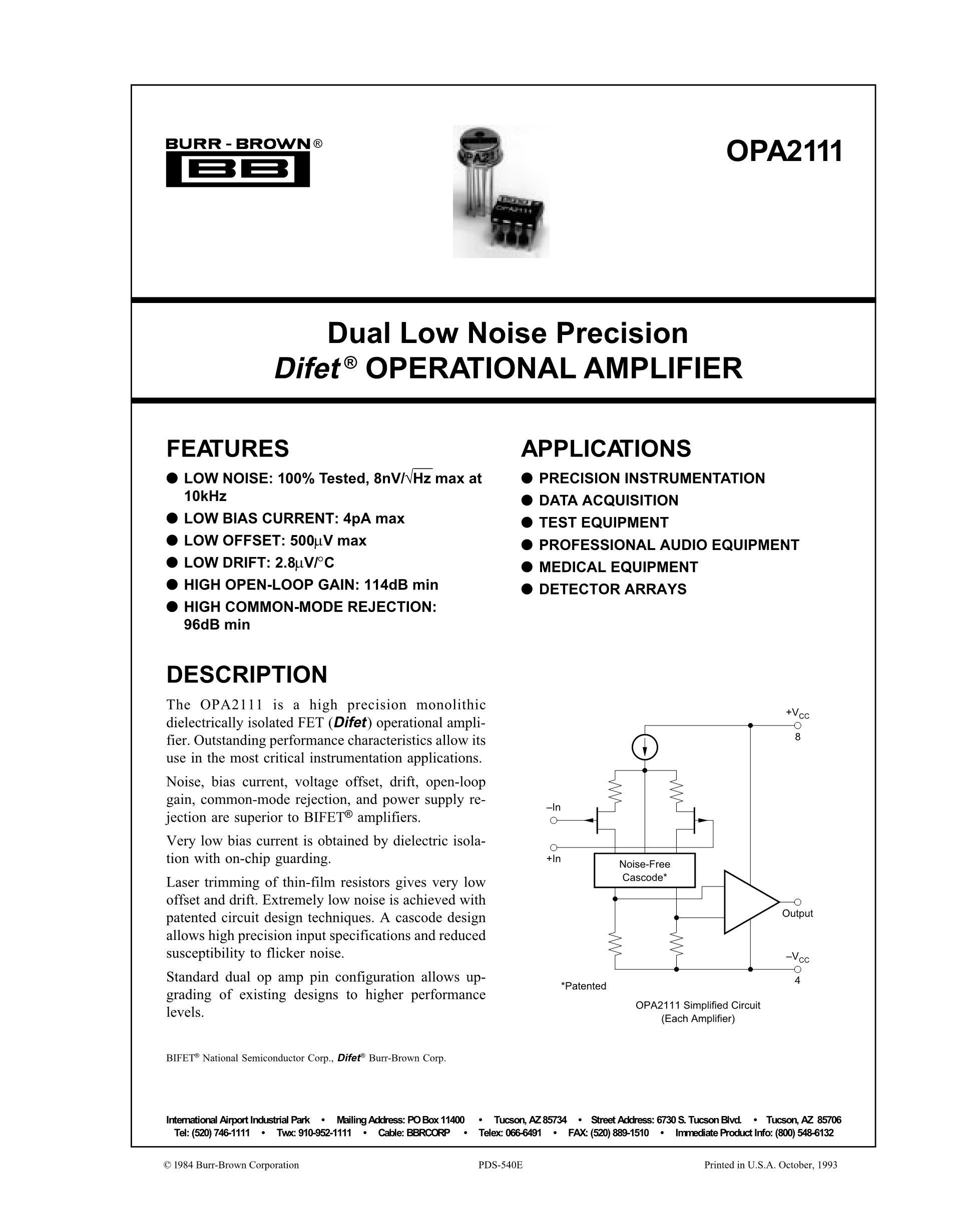 OPA27GZ's pdf picture 1