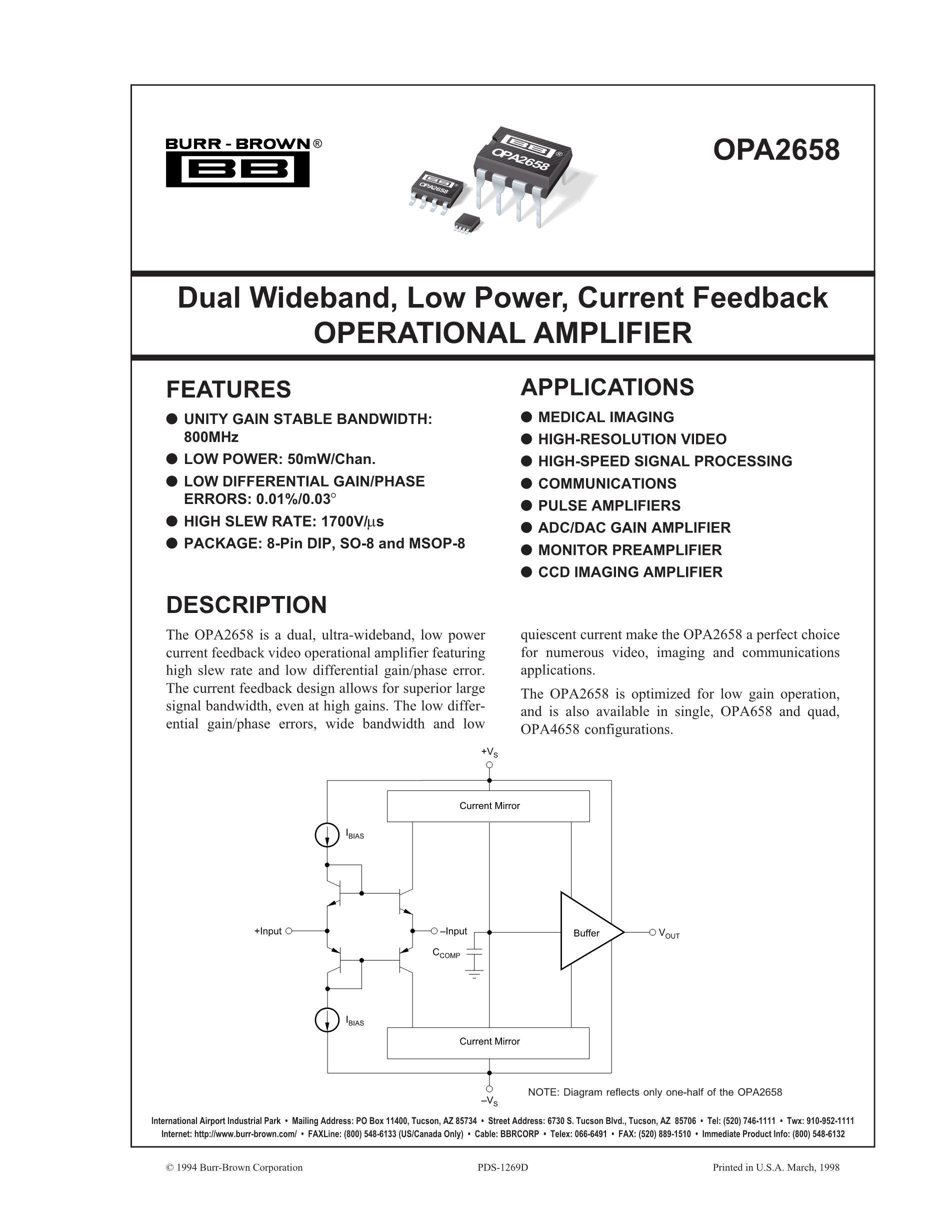 OPA2658U's pdf picture 1
