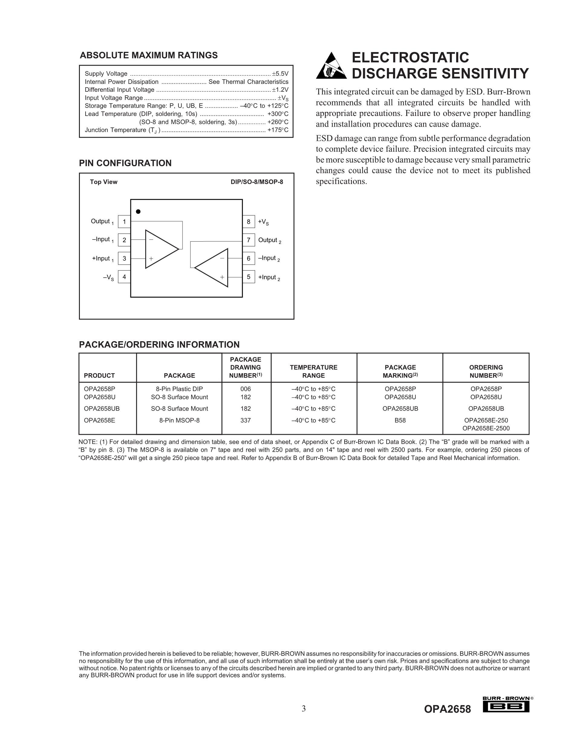 OPA2658U's pdf picture 3