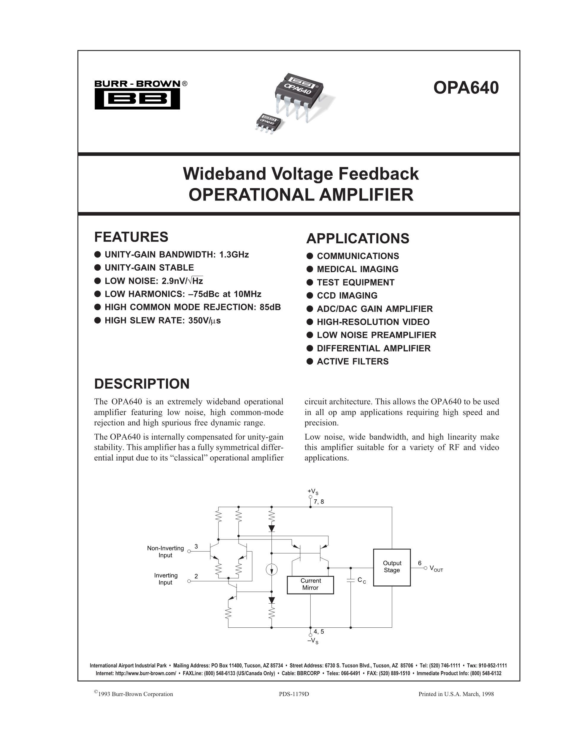OPA651U's pdf picture 1
