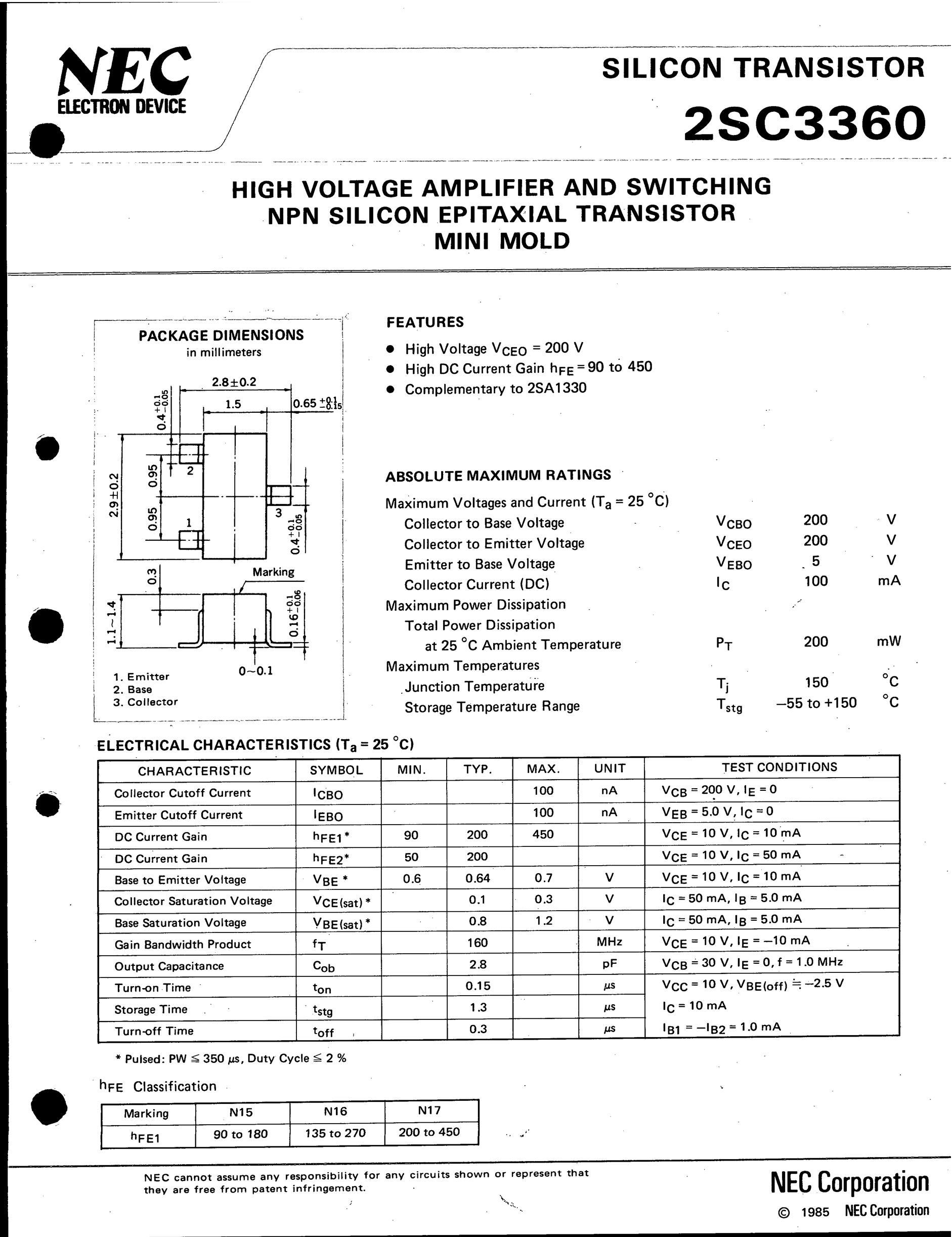2SC3360's pdf picture 1