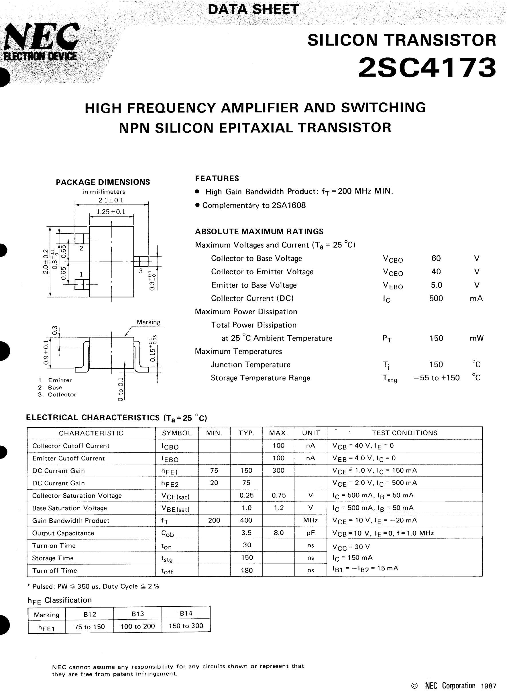 2SC4173's pdf picture 1