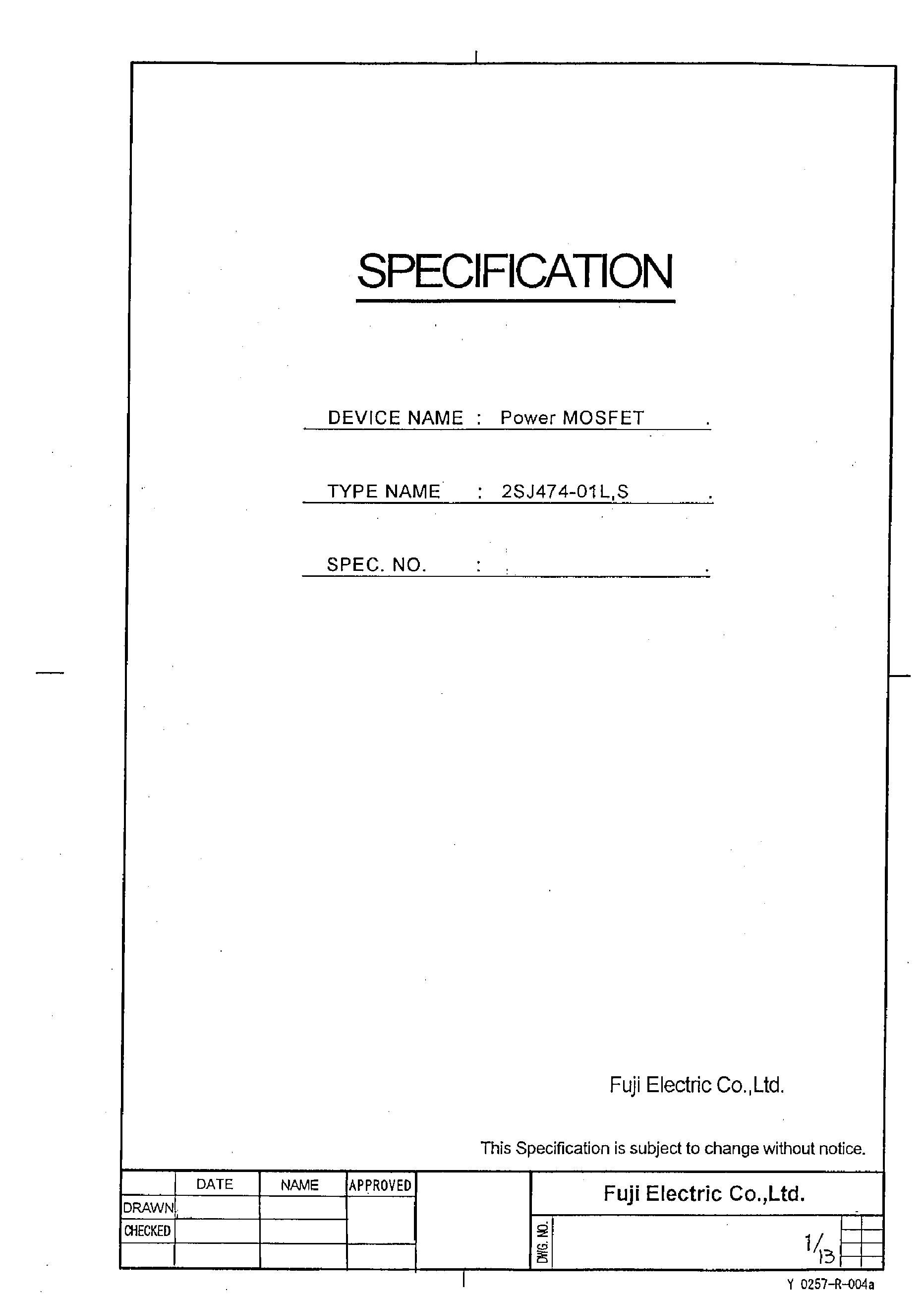 2SJ437's pdf picture 1