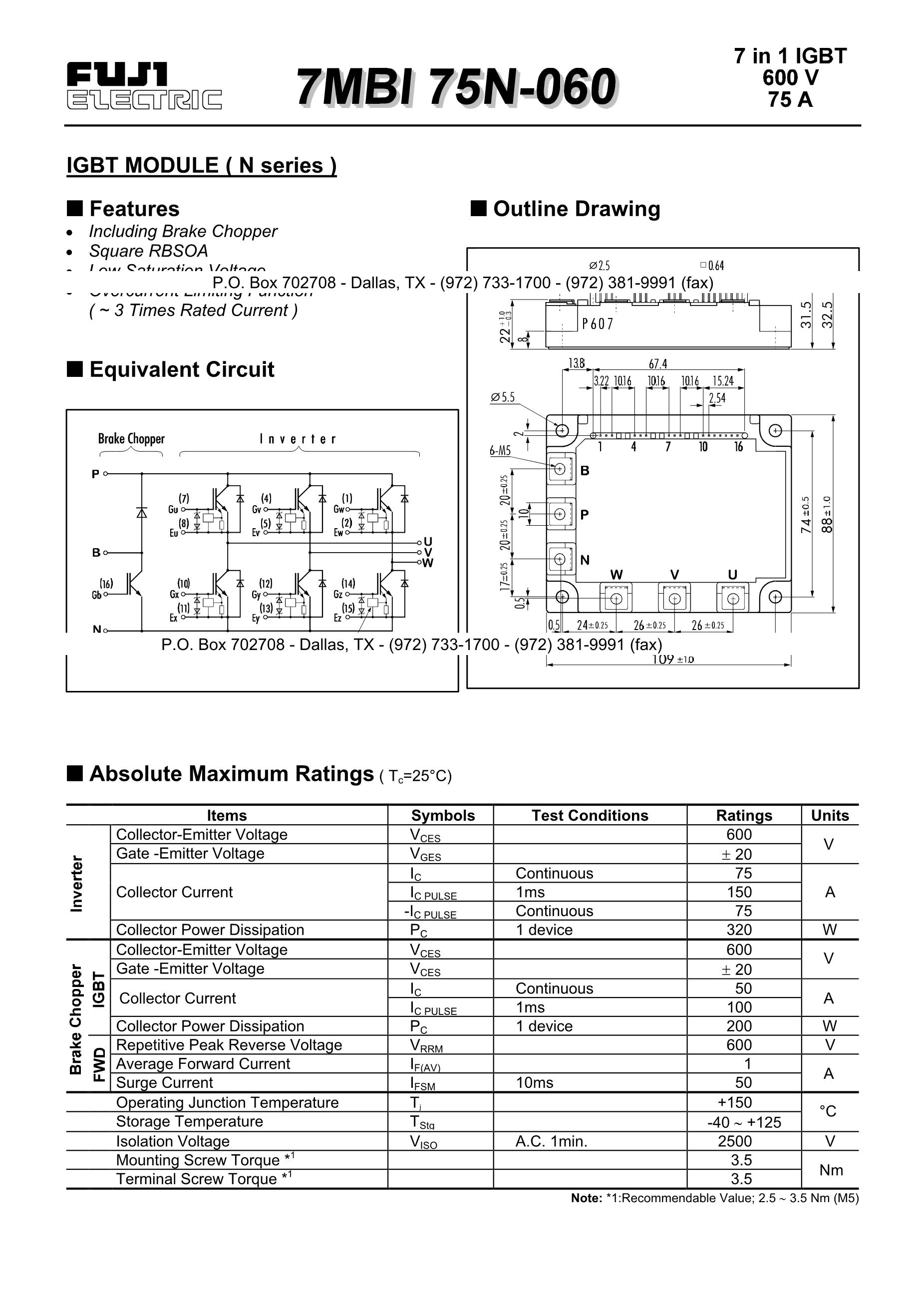 7MBI50N120's pdf picture 1
