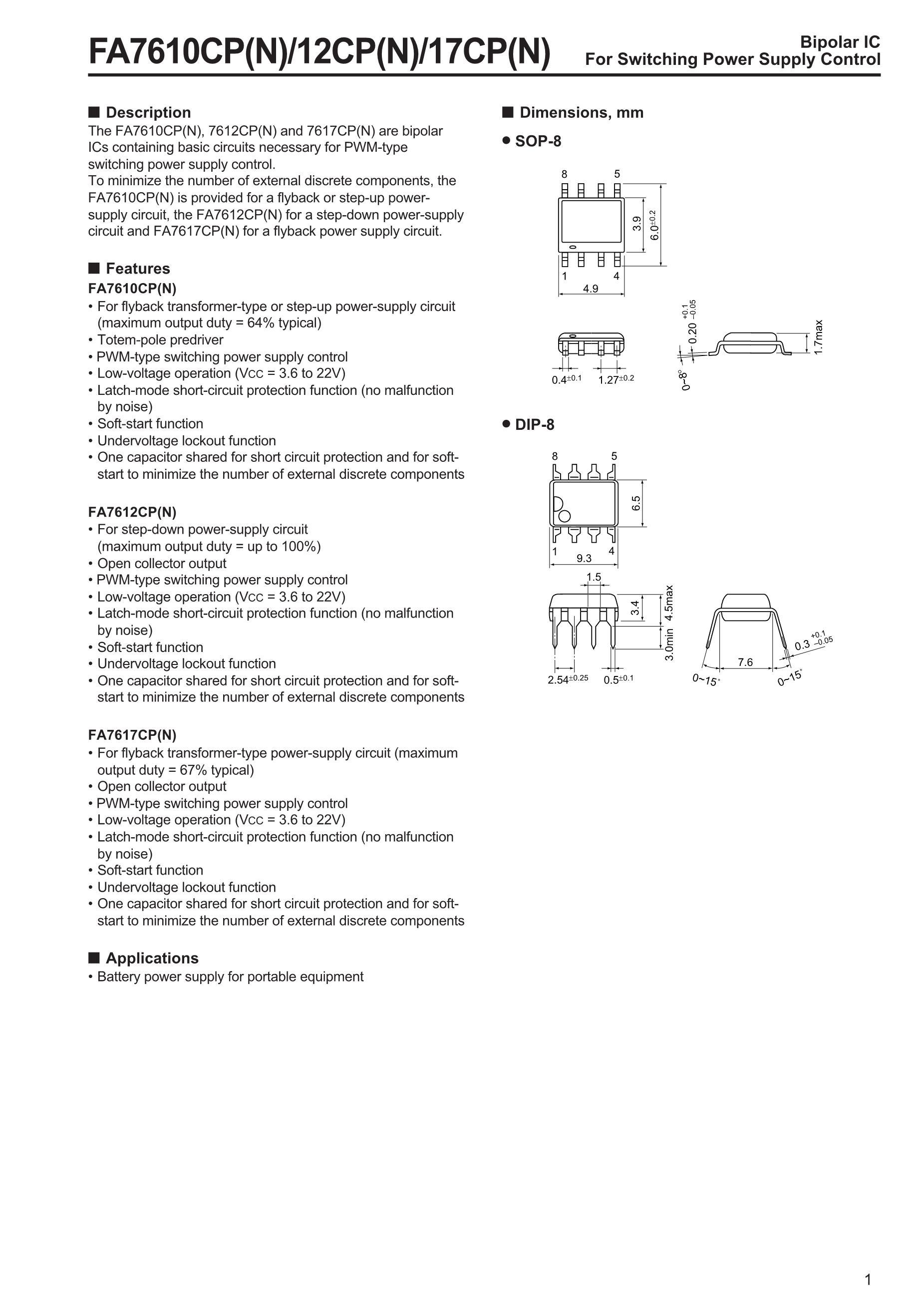 FA7640P's pdf picture 1