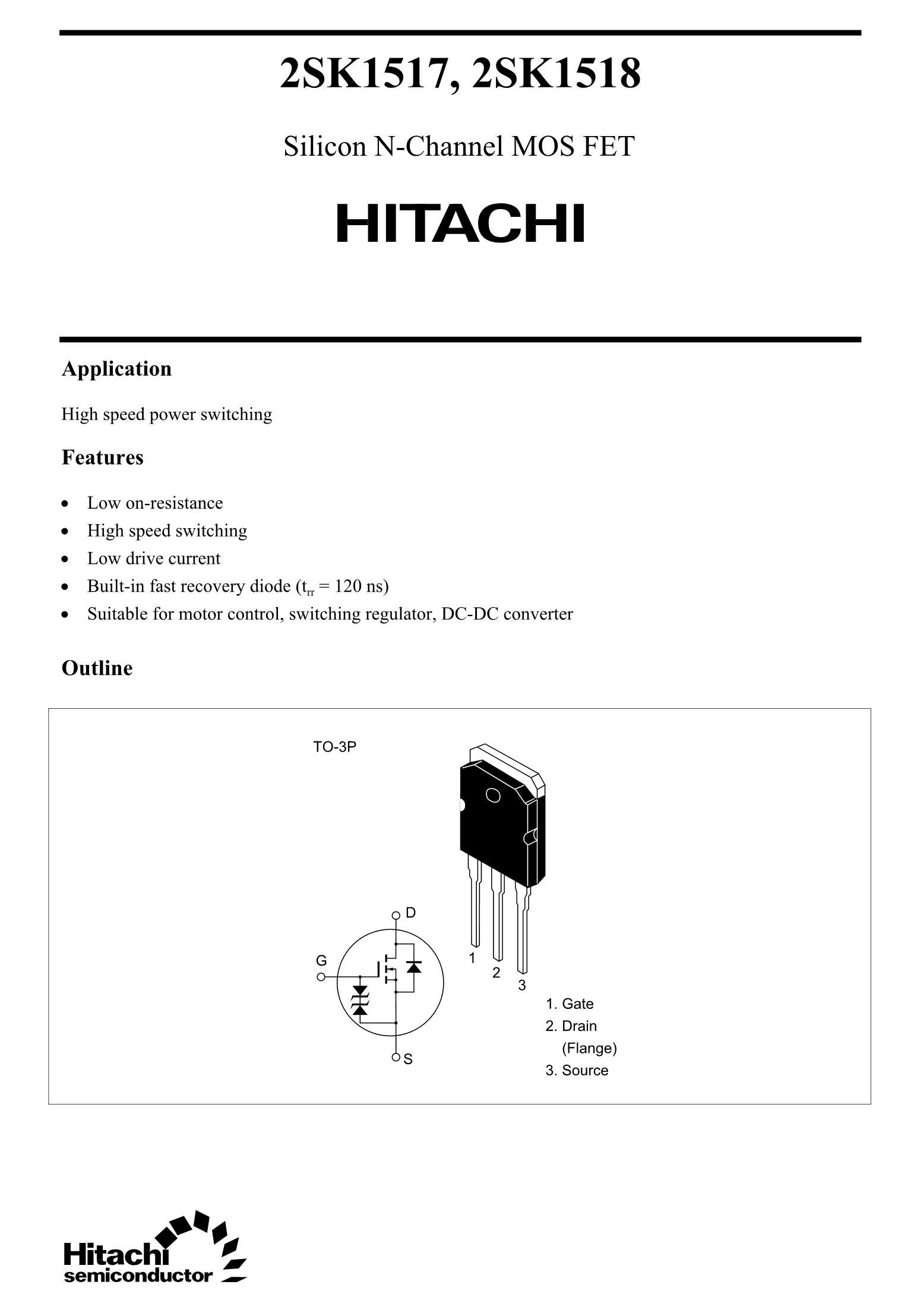 2SK1518's pdf picture 1