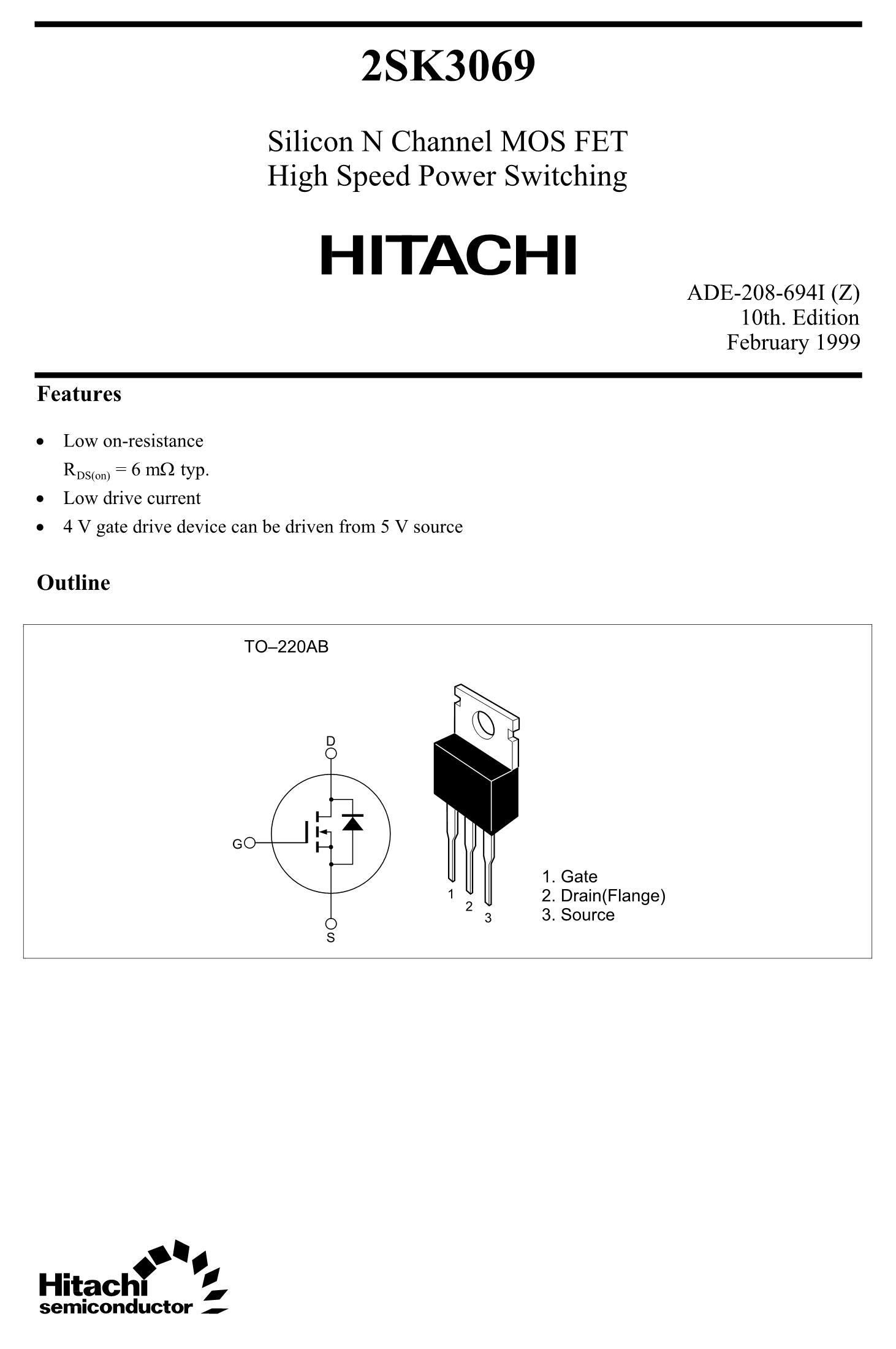 2SK3061's pdf picture 1