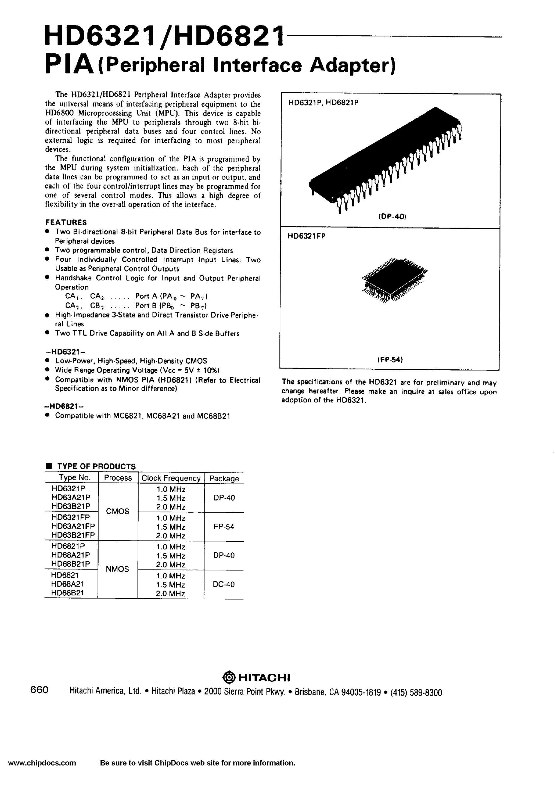 HD6805V1A30P's pdf picture 1