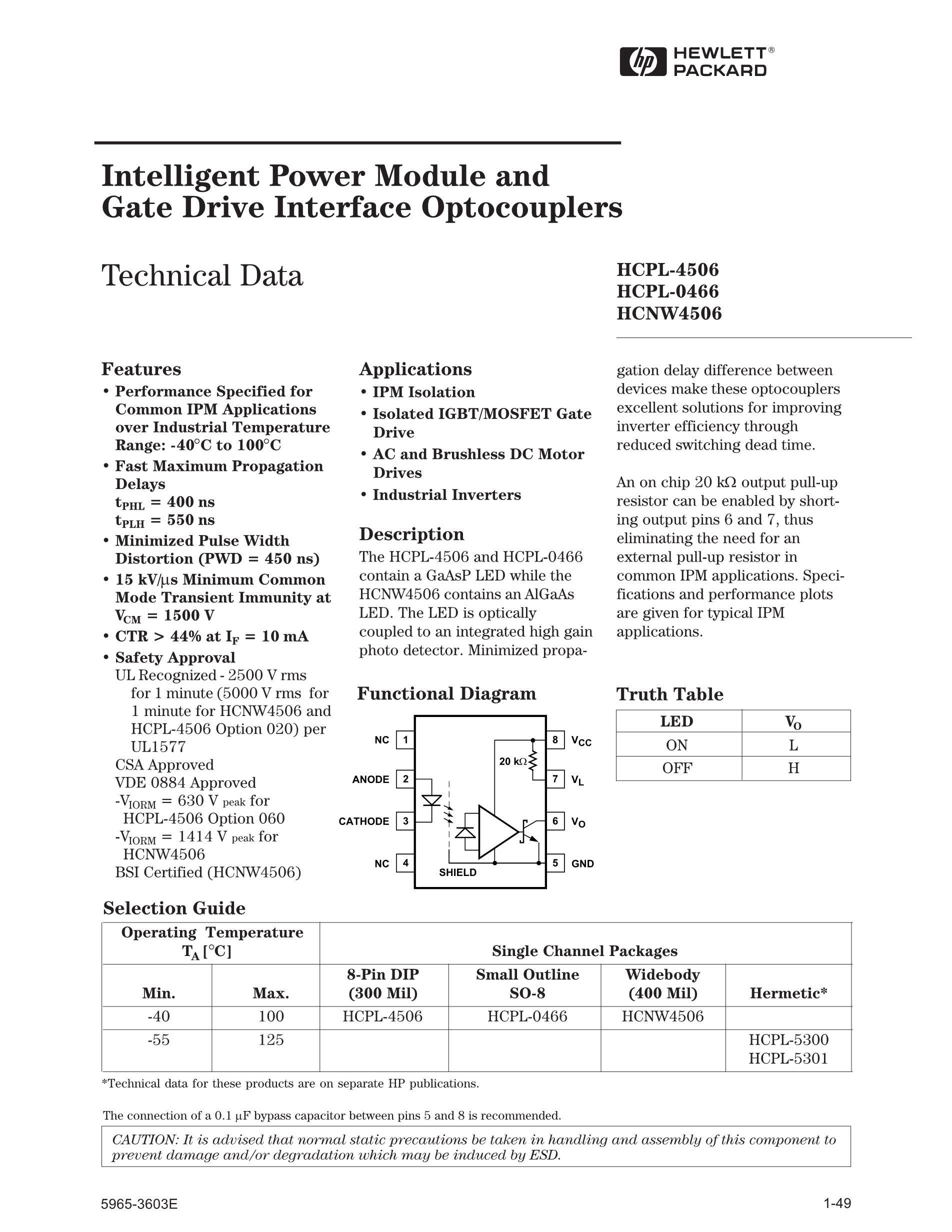 HCPL-354-060E's pdf picture 1