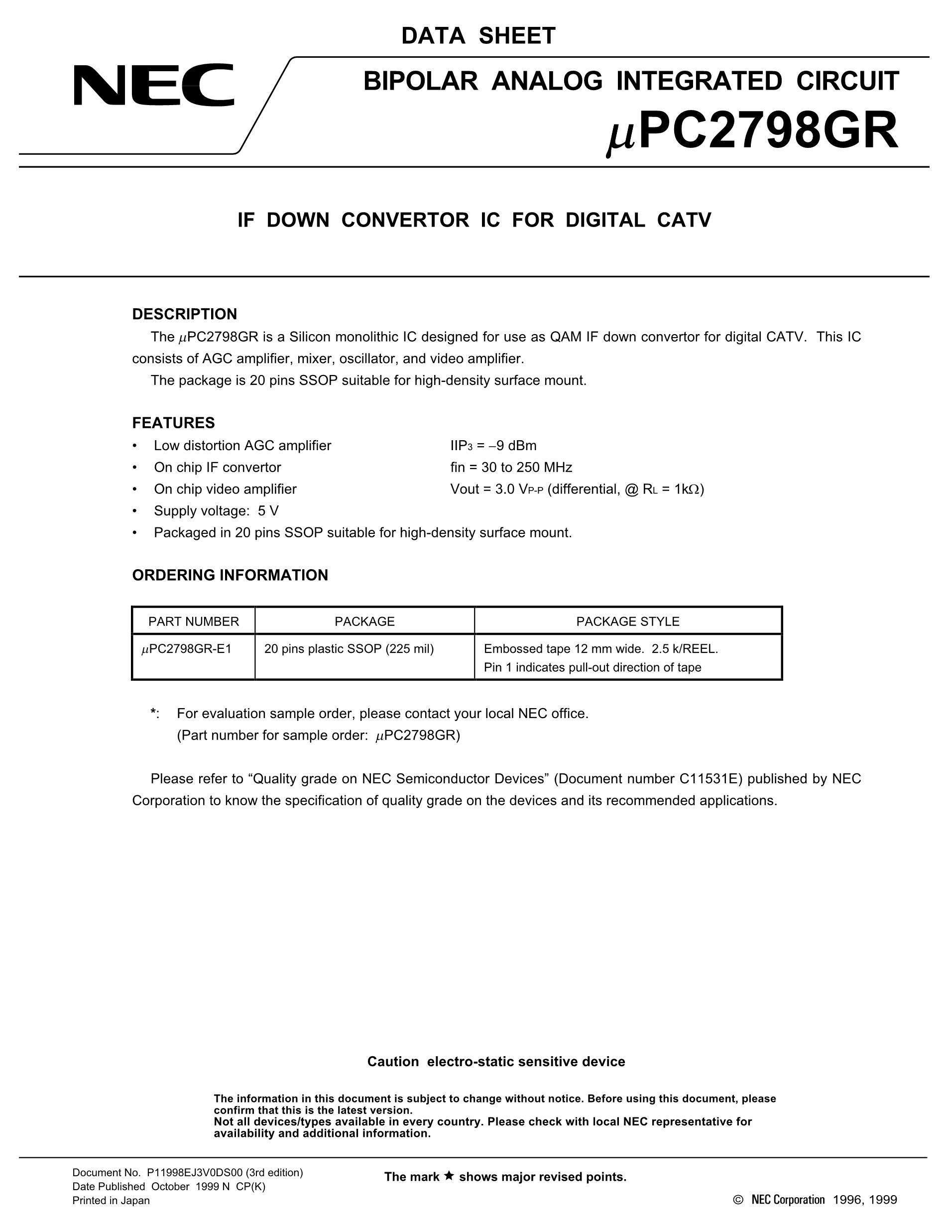 UPC2798GR's pdf picture 1