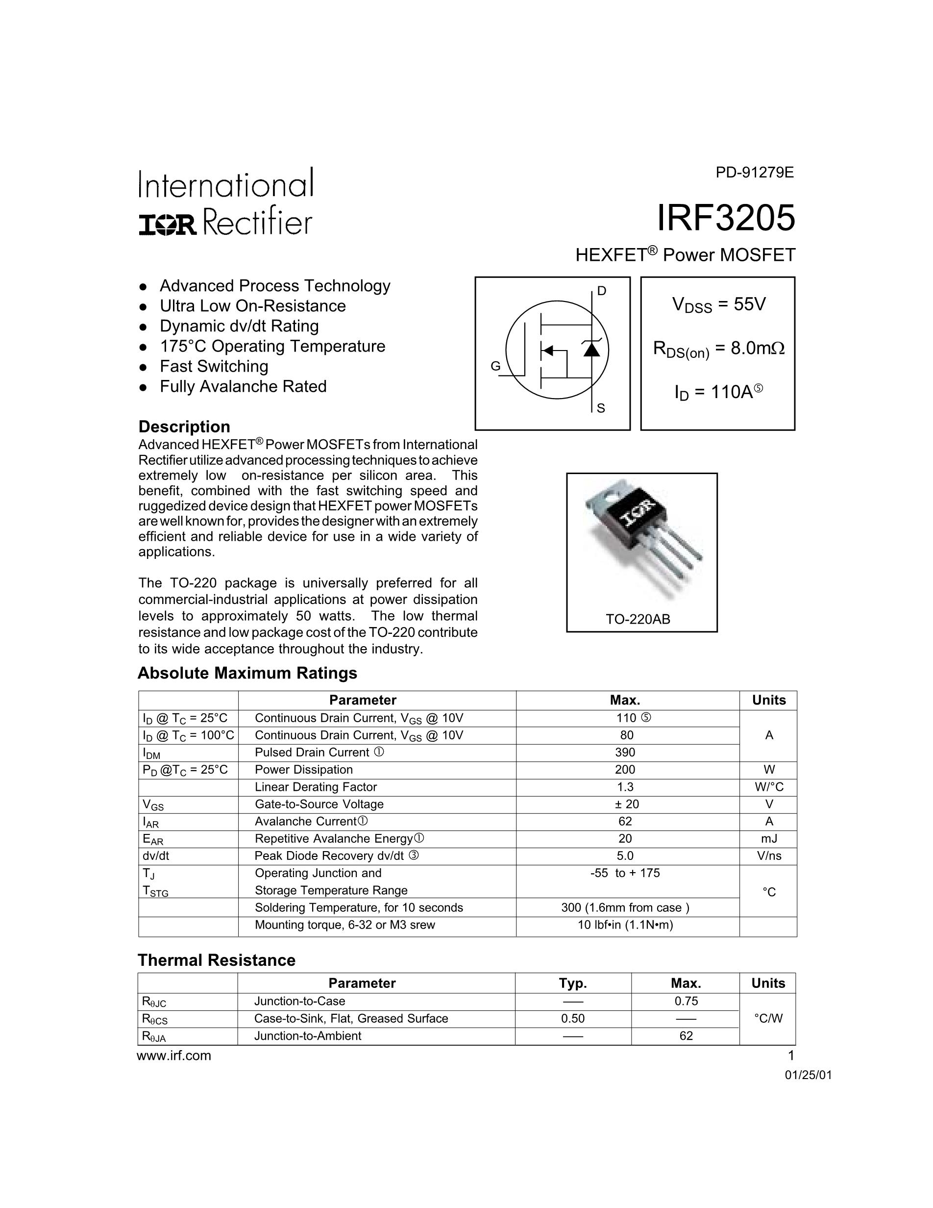 IRF3315SPBF's pdf picture 1
