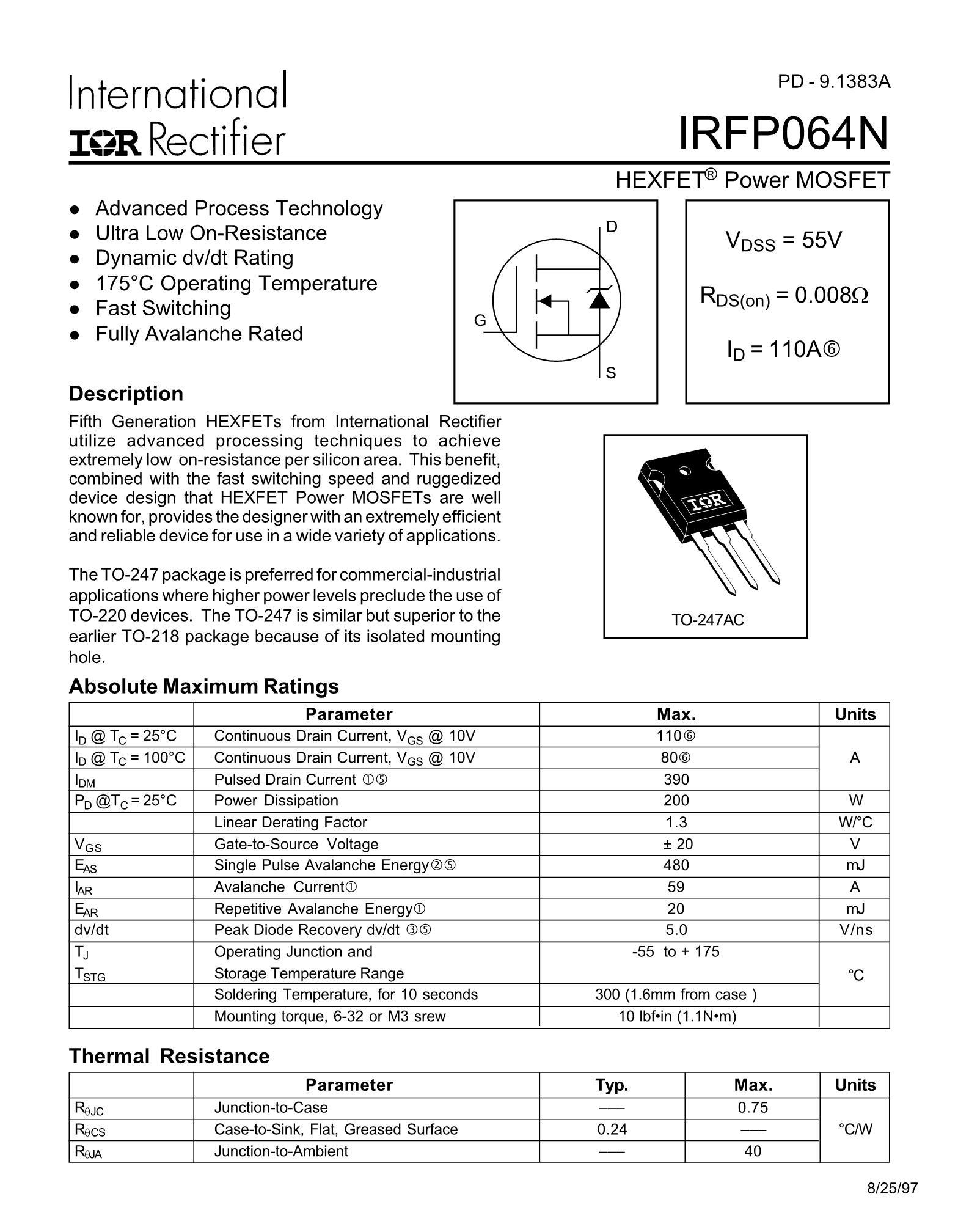 IRFP250NPBF's pdf picture 1