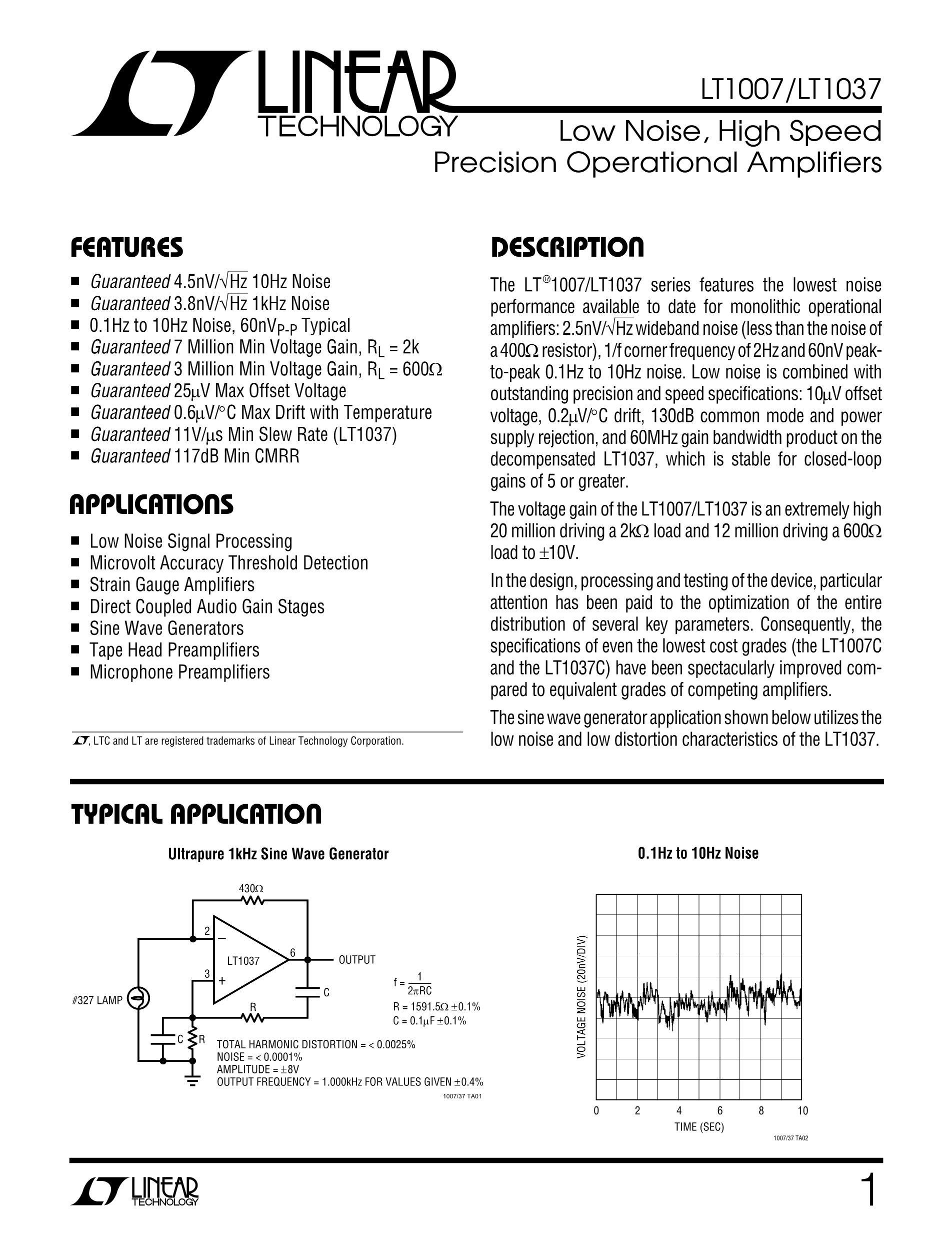 LT1039IN's pdf picture 1