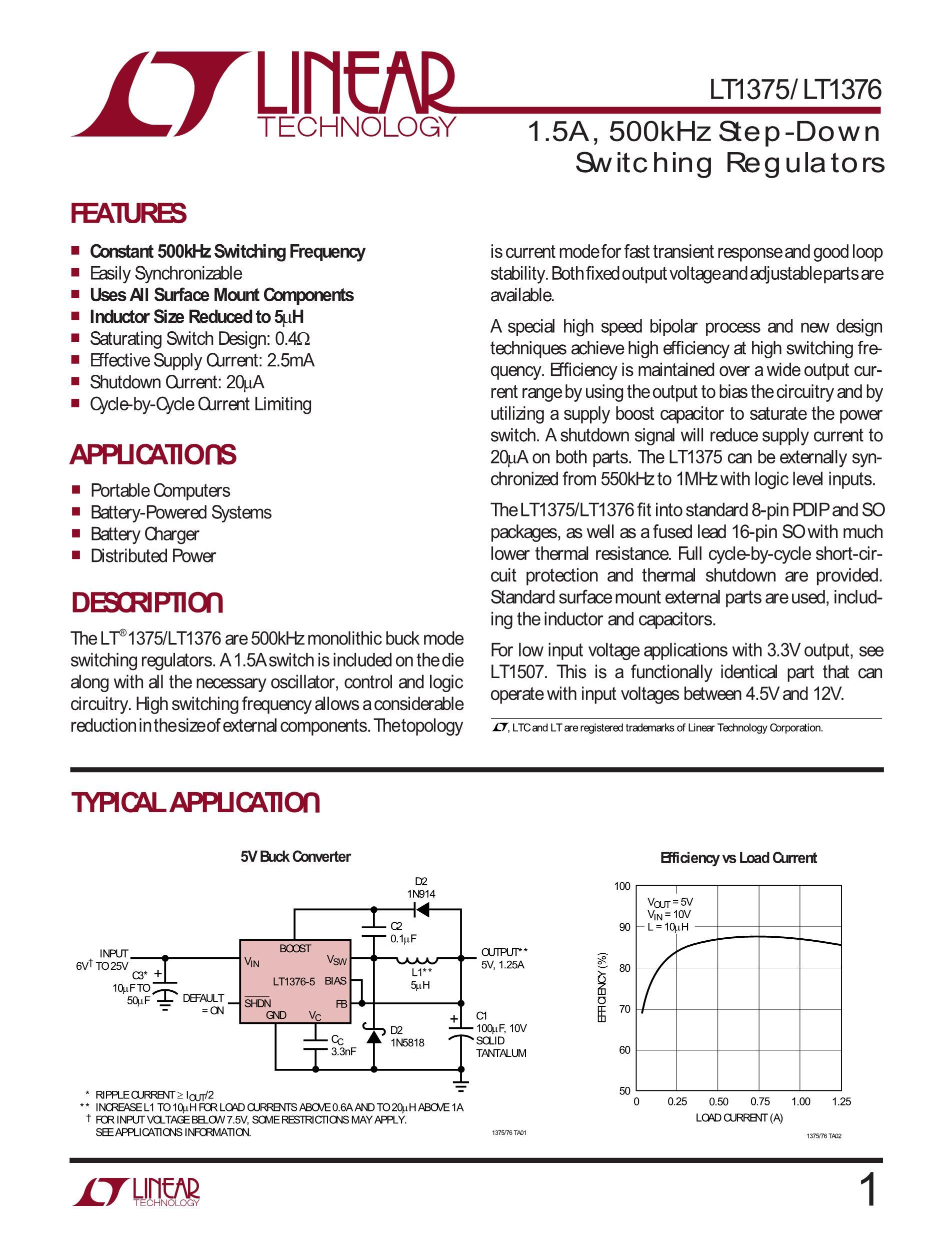 LT1376HVCS#PBF's pdf picture 1