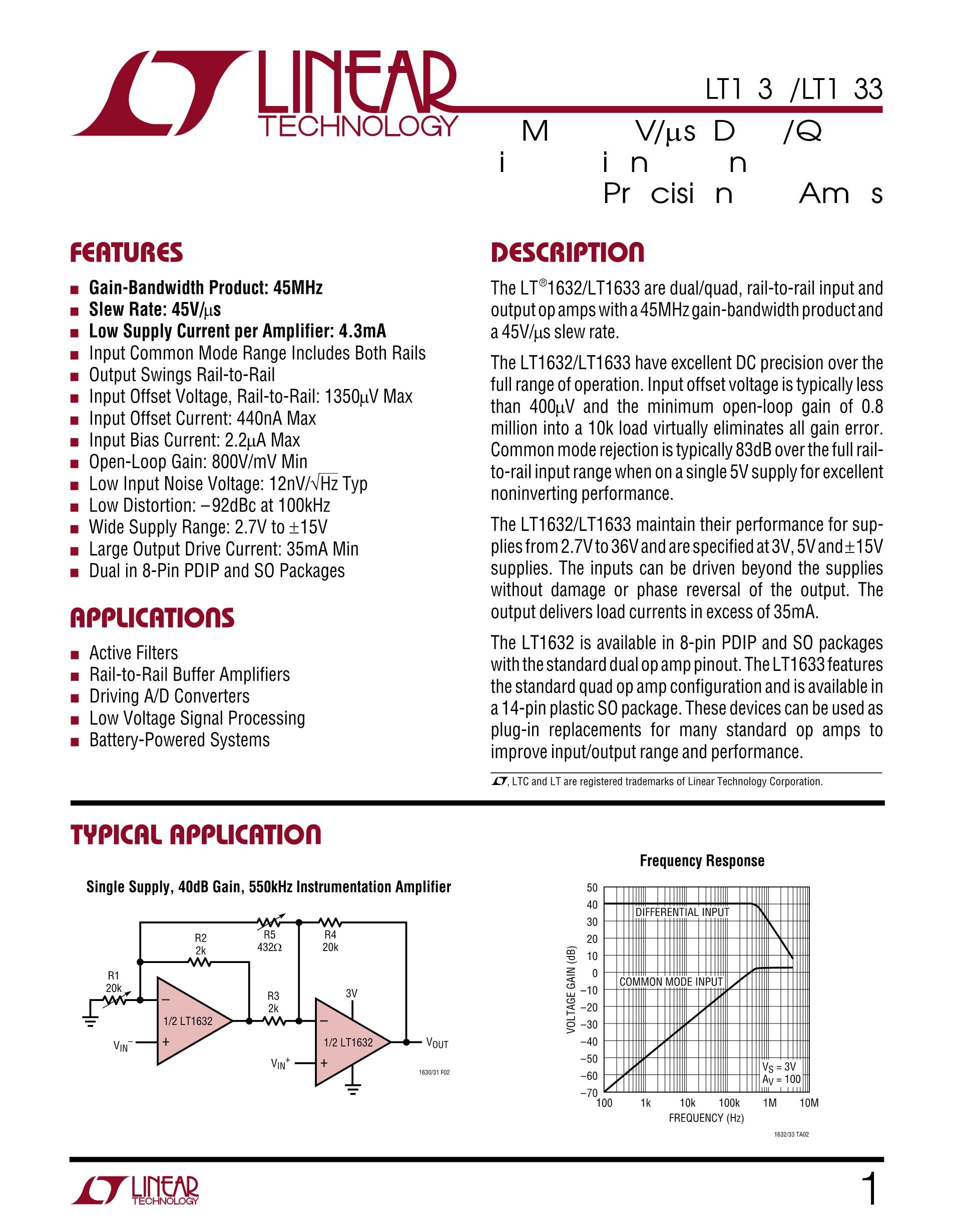 LT1673CS8's pdf picture 1