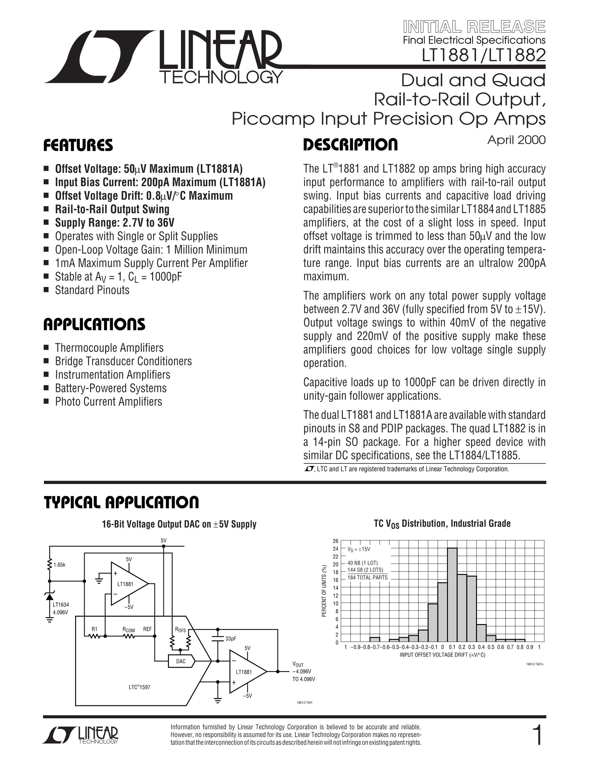 LT1805IS's pdf picture 1