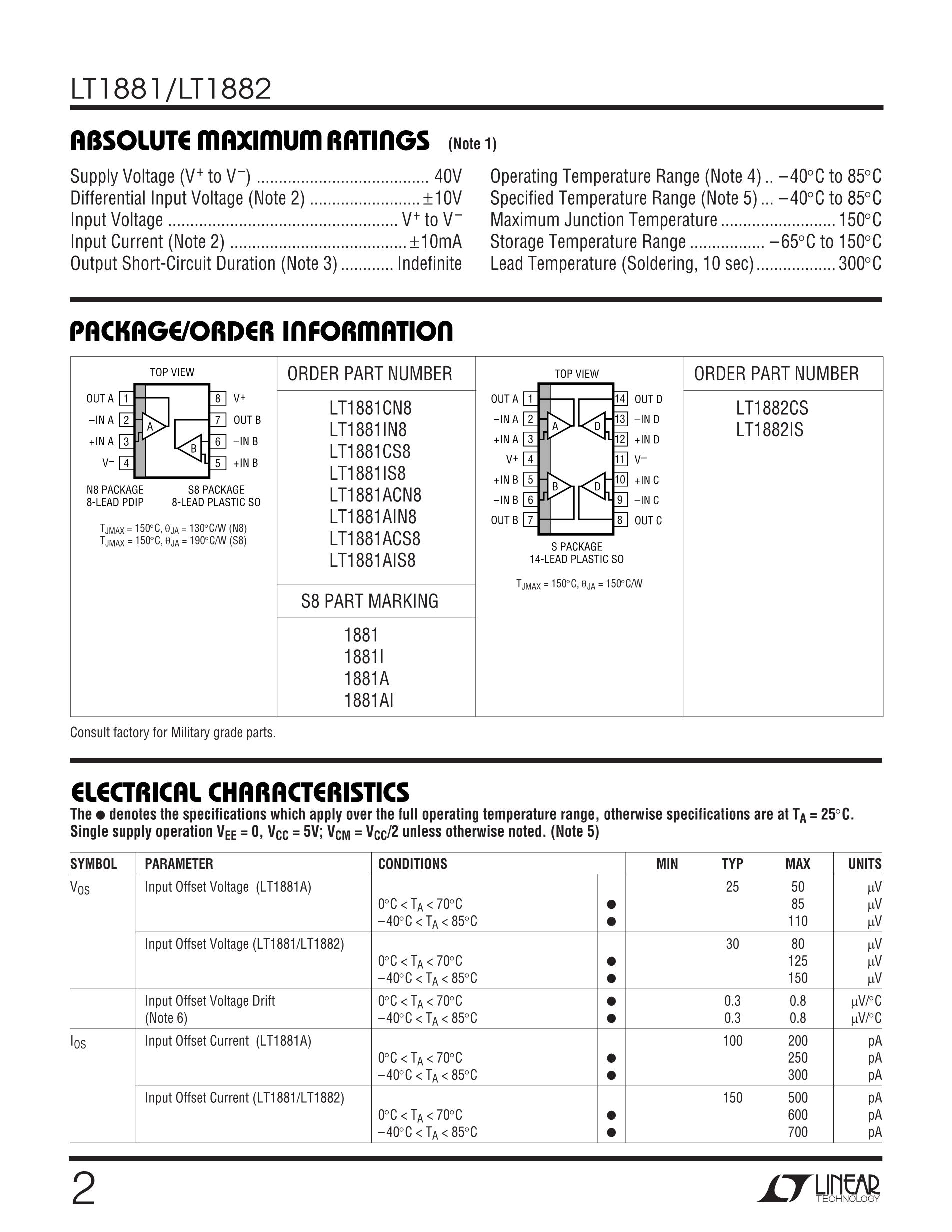 LT1805IS's pdf picture 2