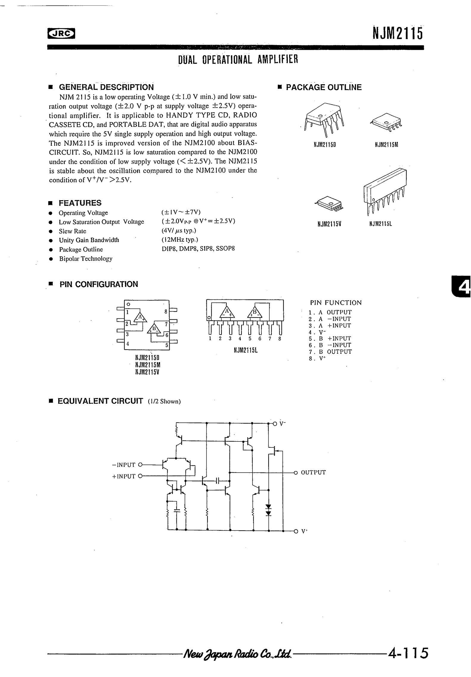 NJM2115M's pdf picture 1