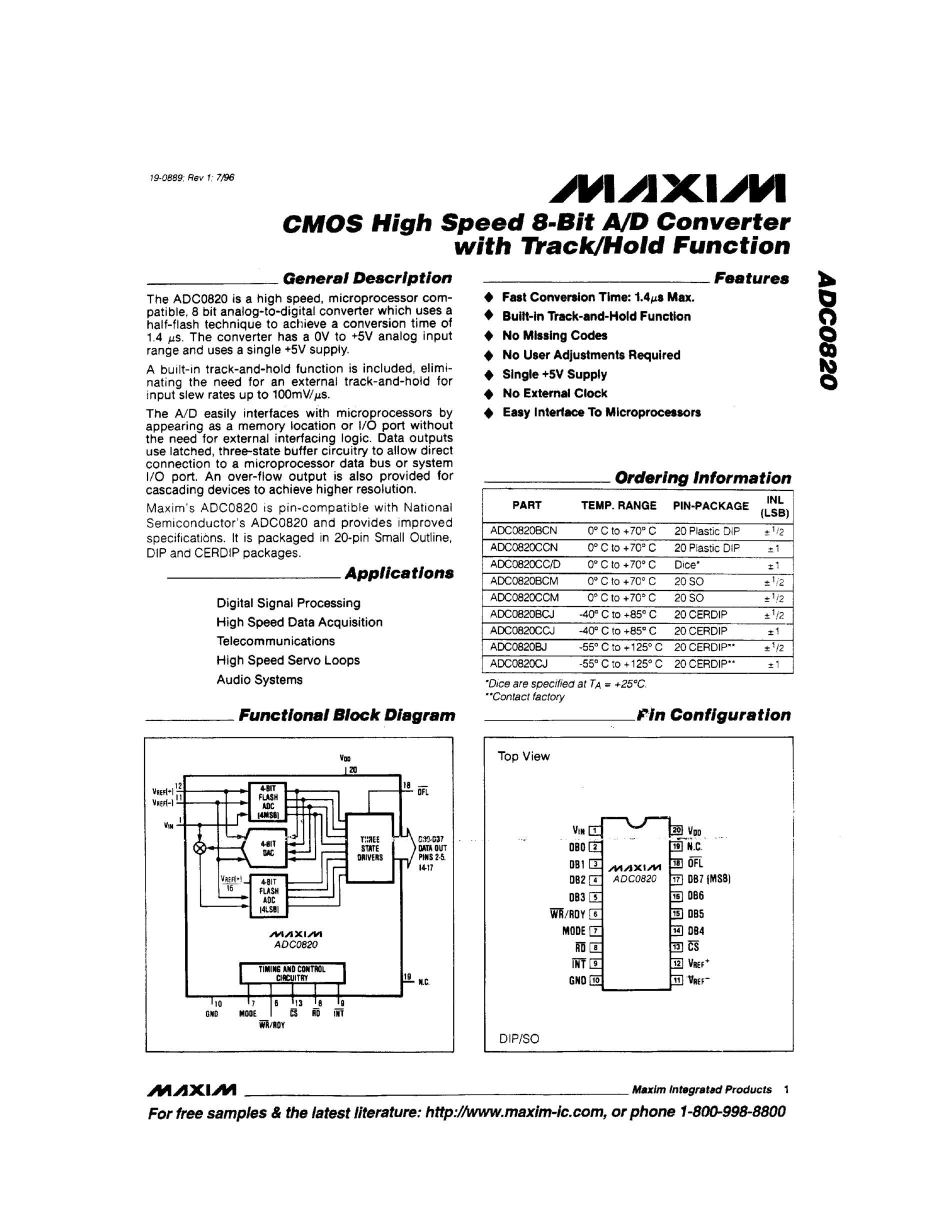 ADC0820's pdf picture 1