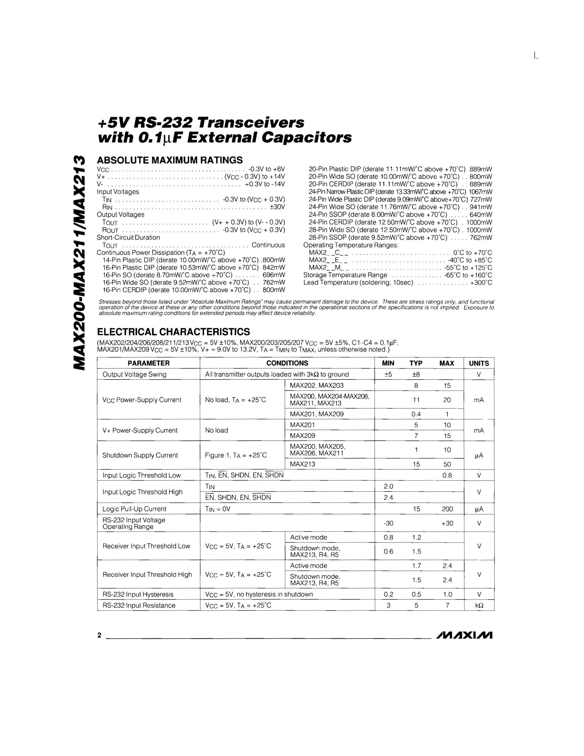 MAX207CWE's pdf picture 2