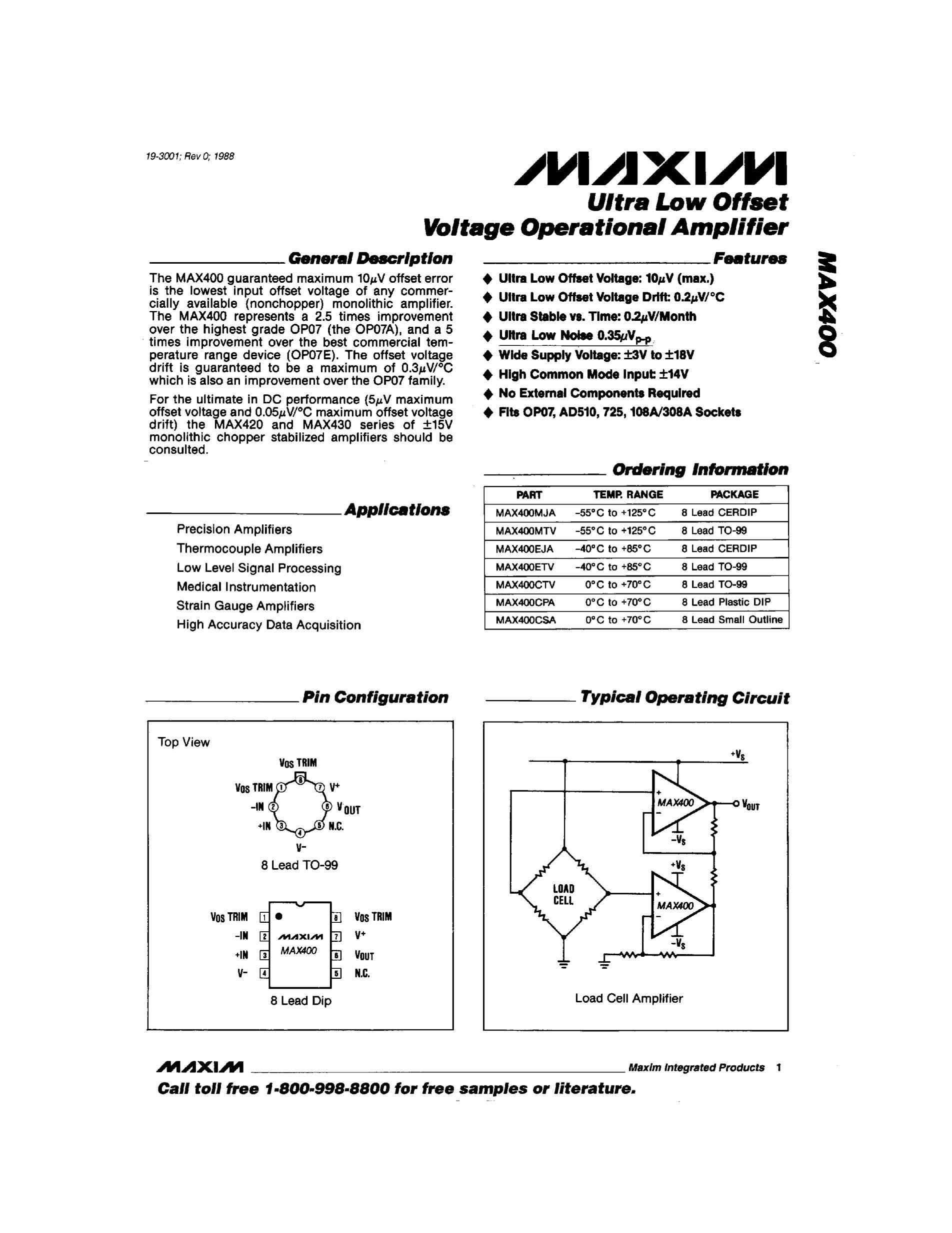 MAX495CUA's pdf picture 1