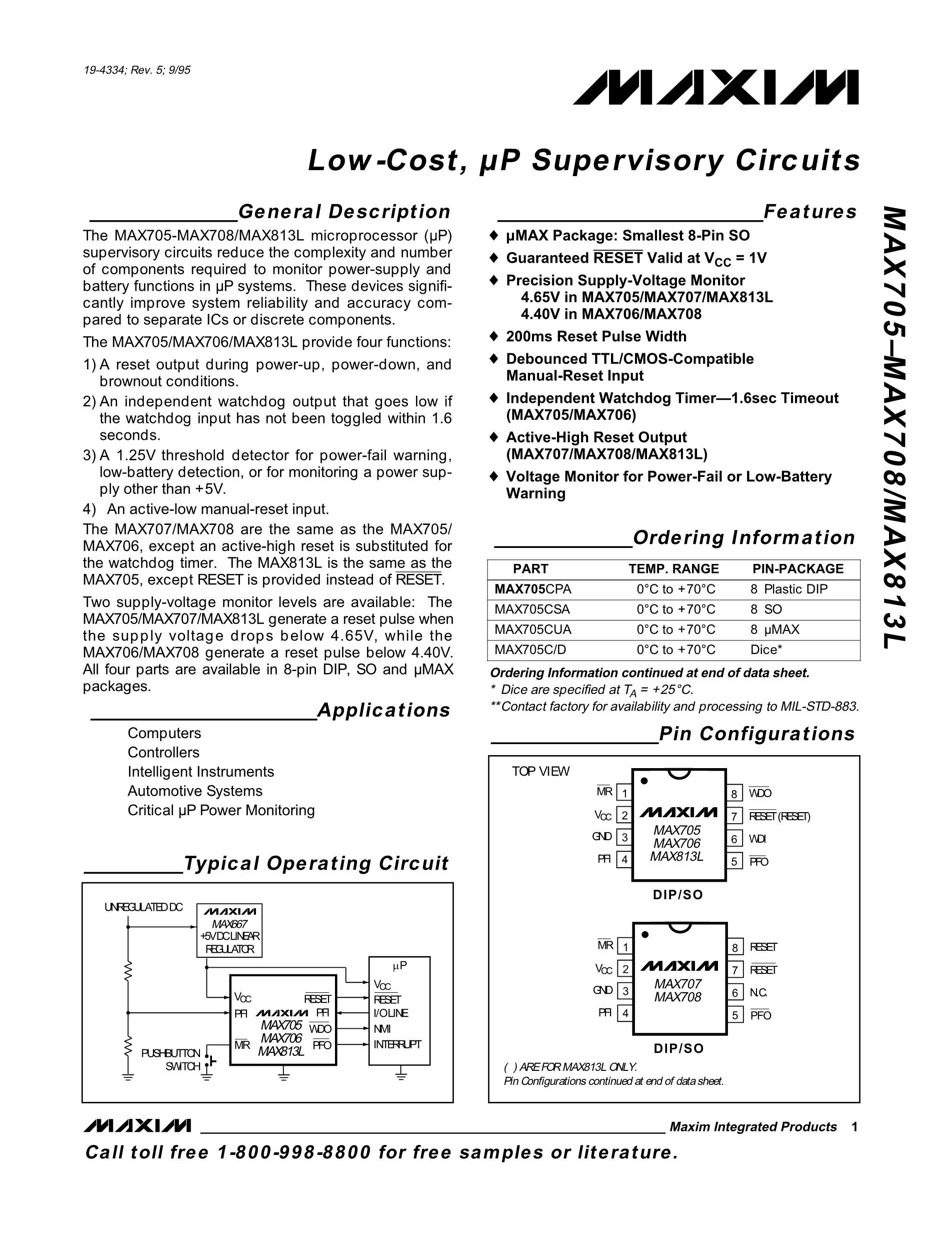 MAX7422CUA+'s pdf picture 1