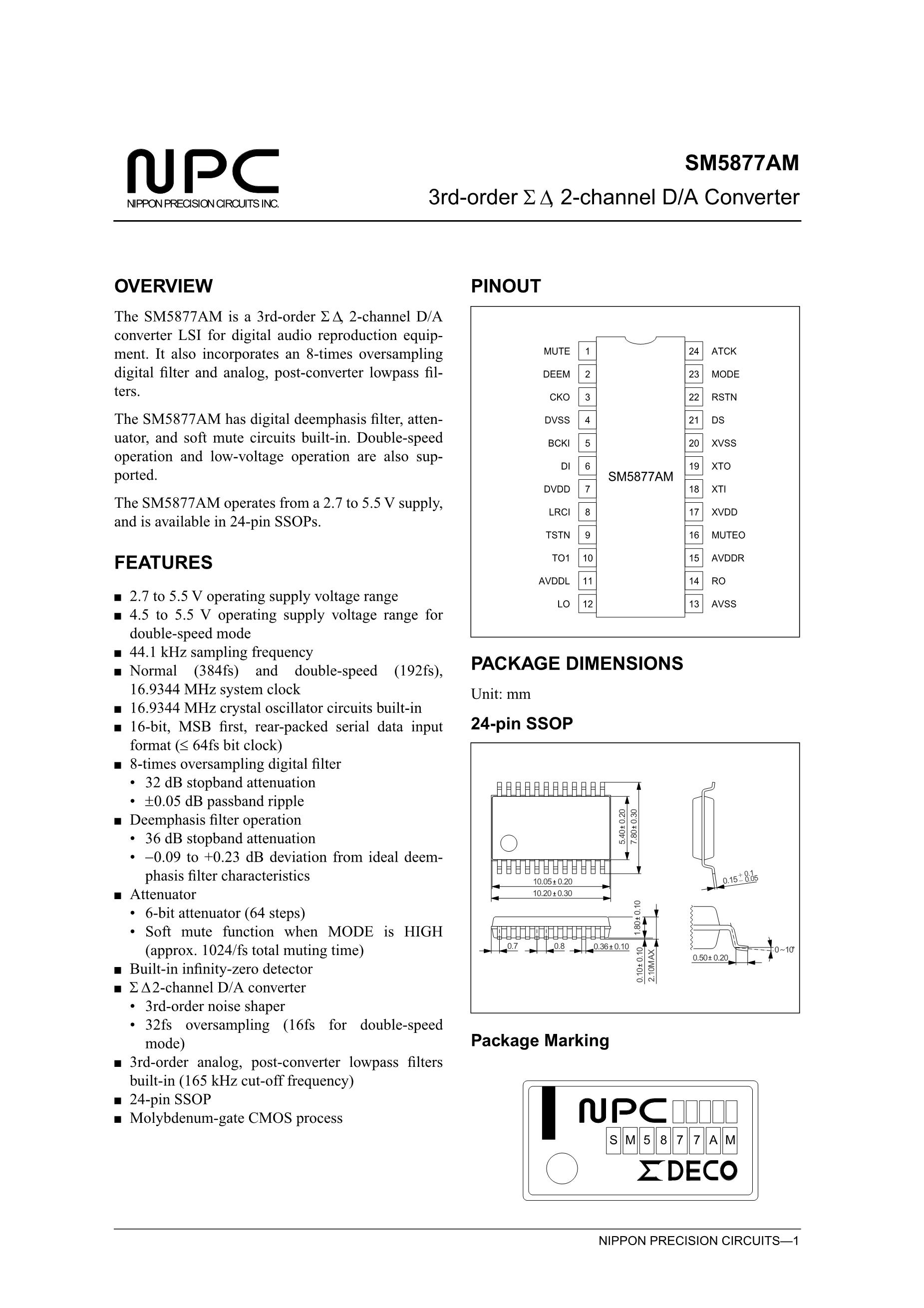 SM5842APT's pdf picture 1