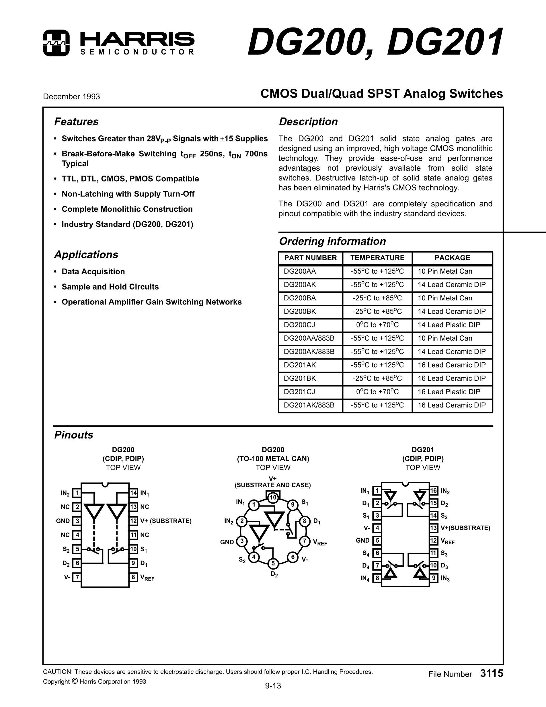 DG20AA60's pdf picture 1