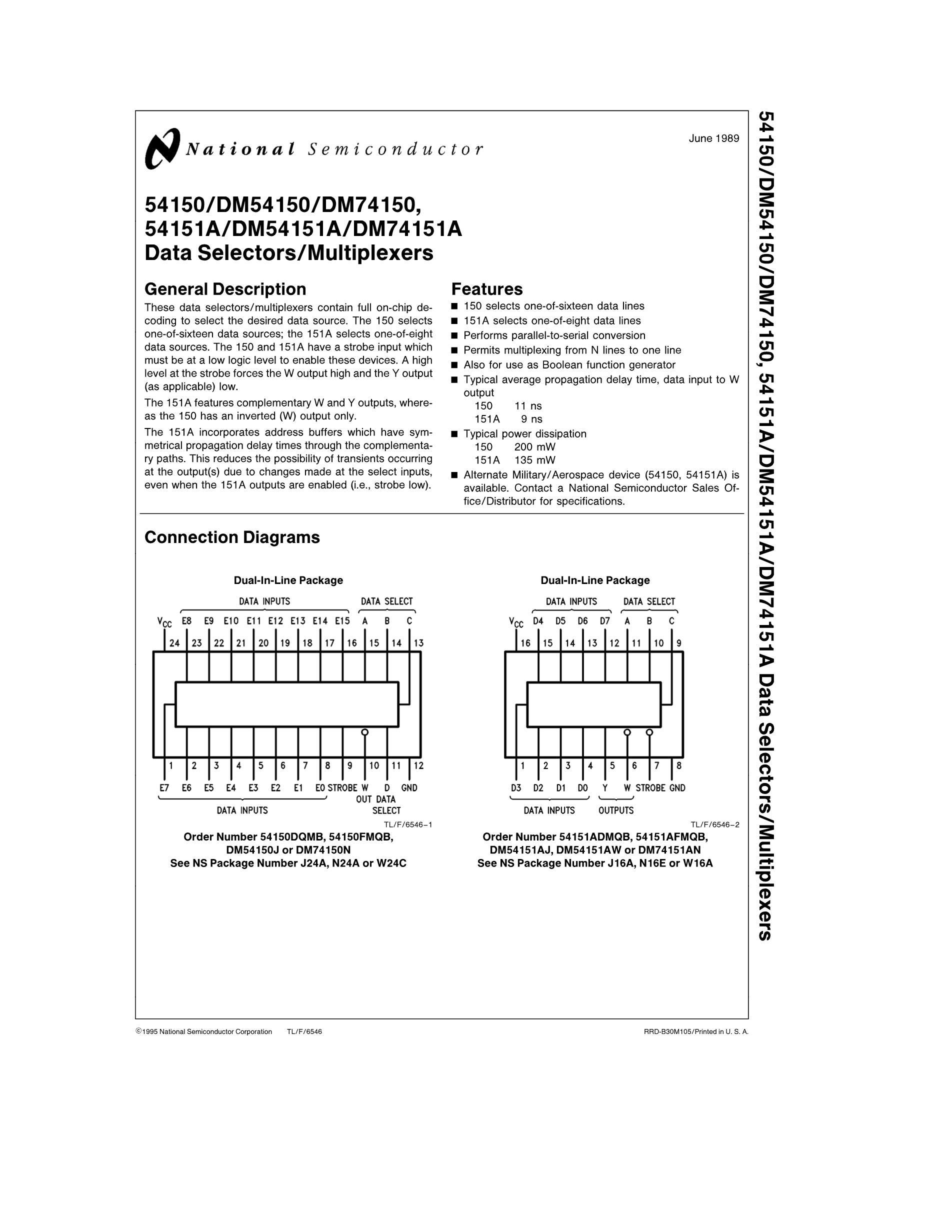 DM74LS258BN's pdf picture 1