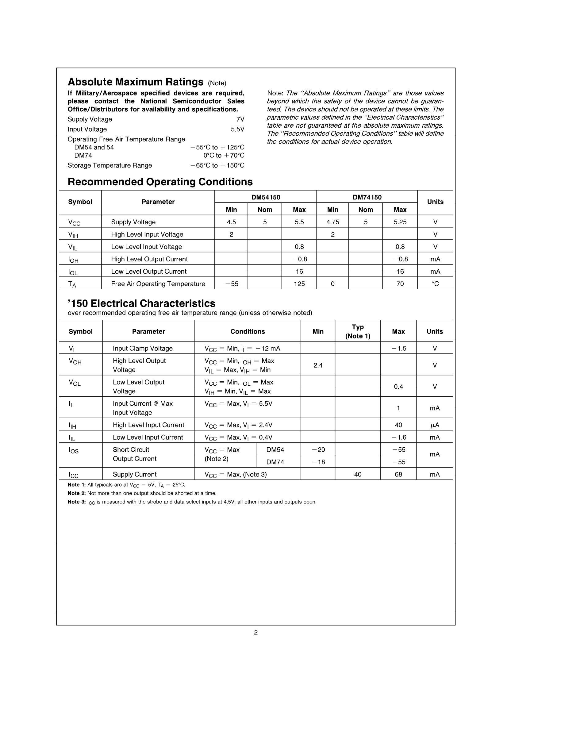 DM74LS258BN's pdf picture 2
