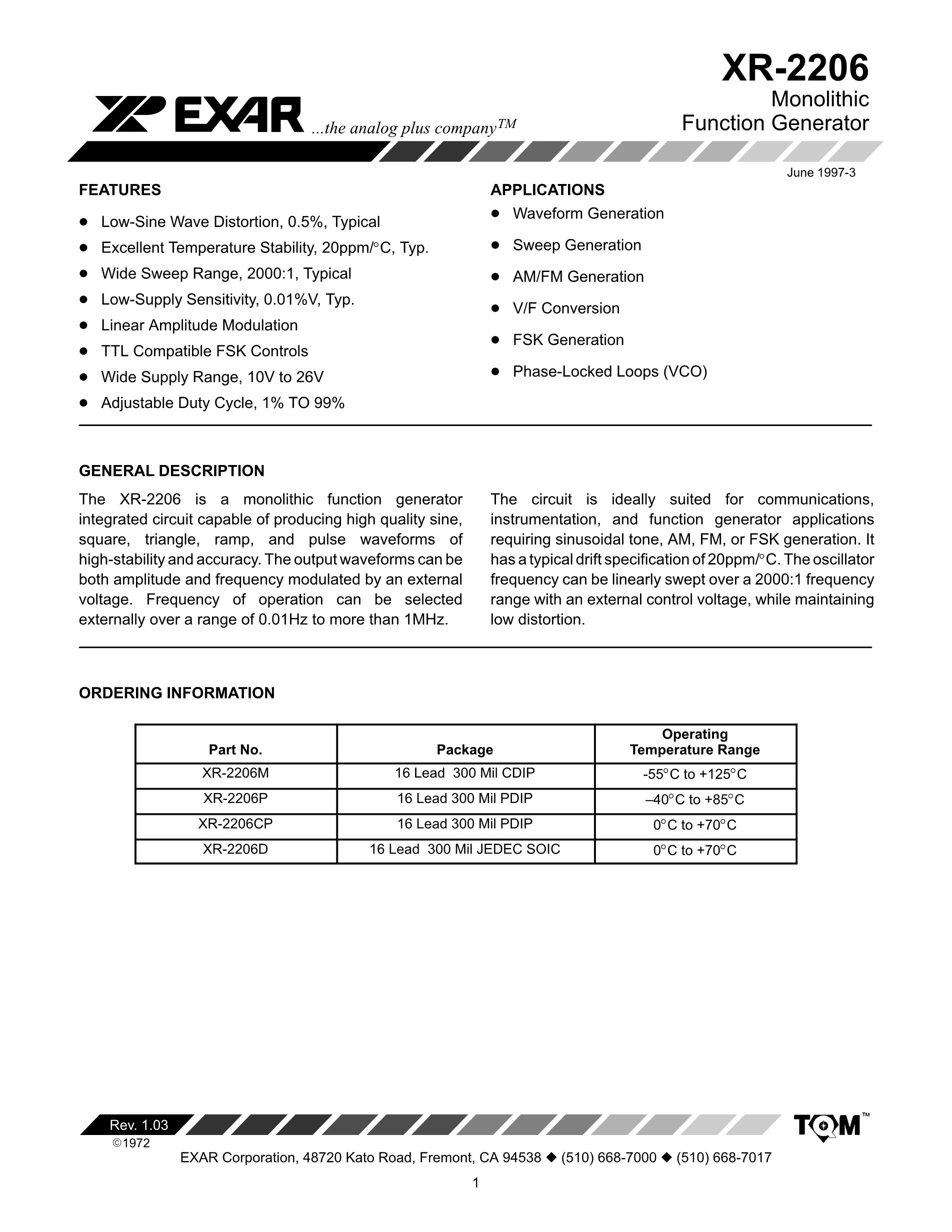 XR2206D-F's pdf picture 1
