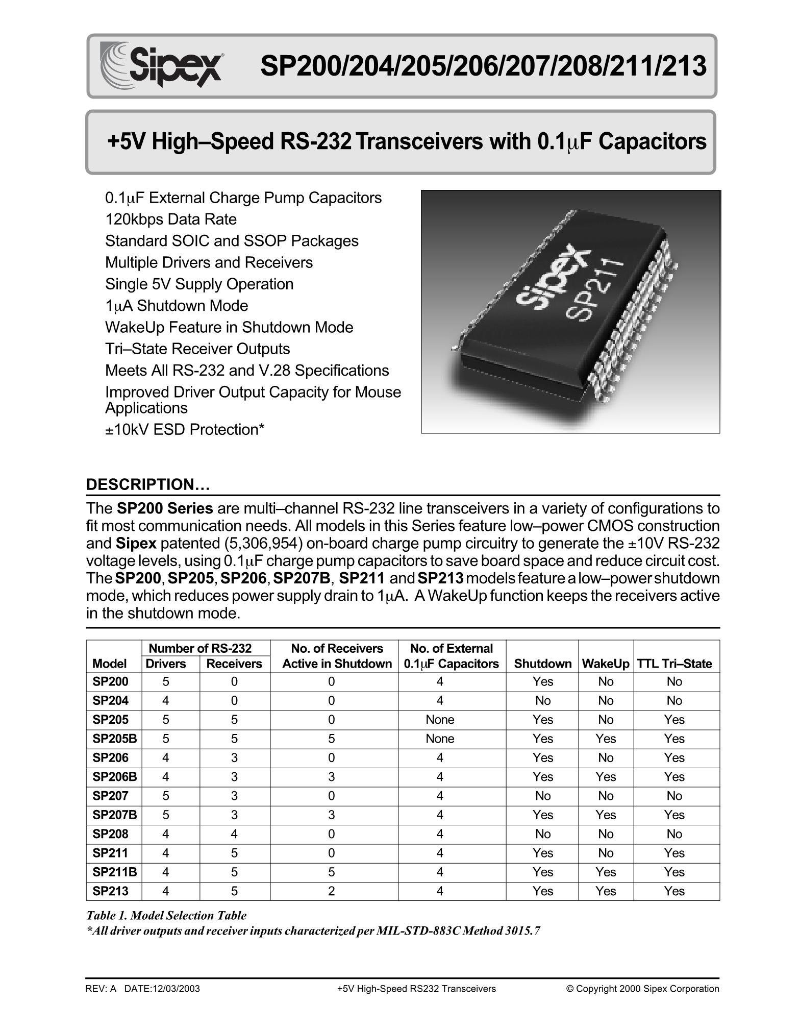 SP213ECA's pdf picture 1